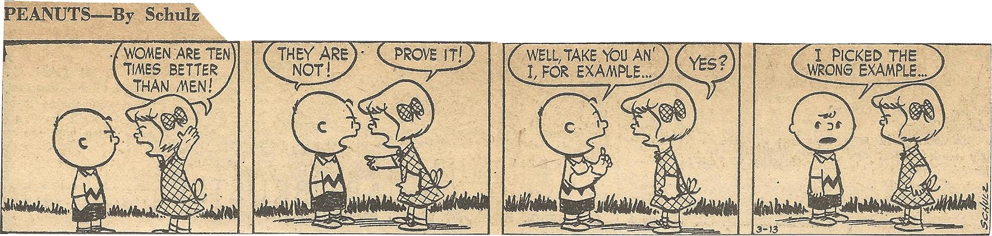 Mar. 14, 1953 (Marj) Peanuts 1