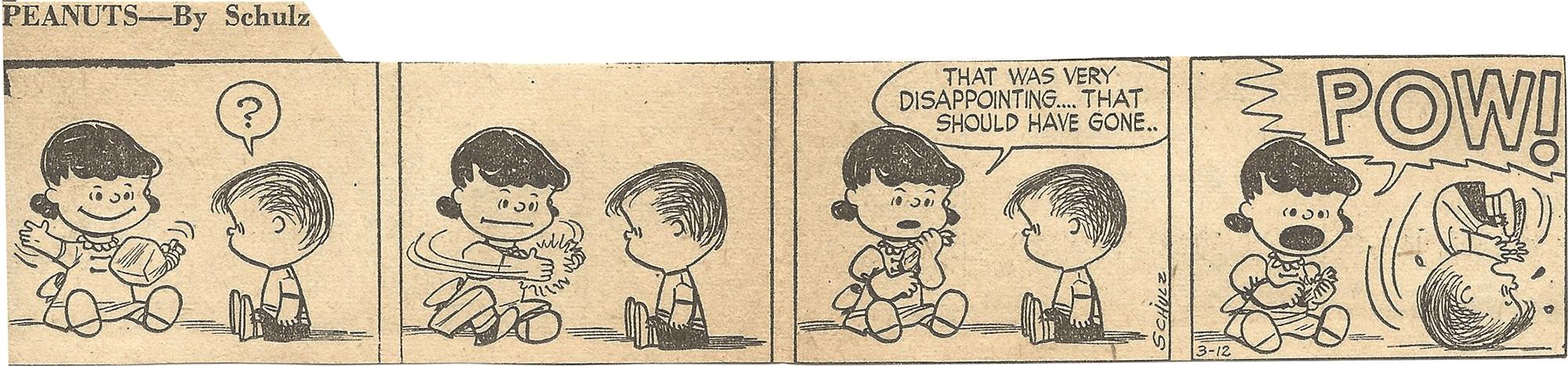Mar. 14, 1953 (Marj) Peanuts 3