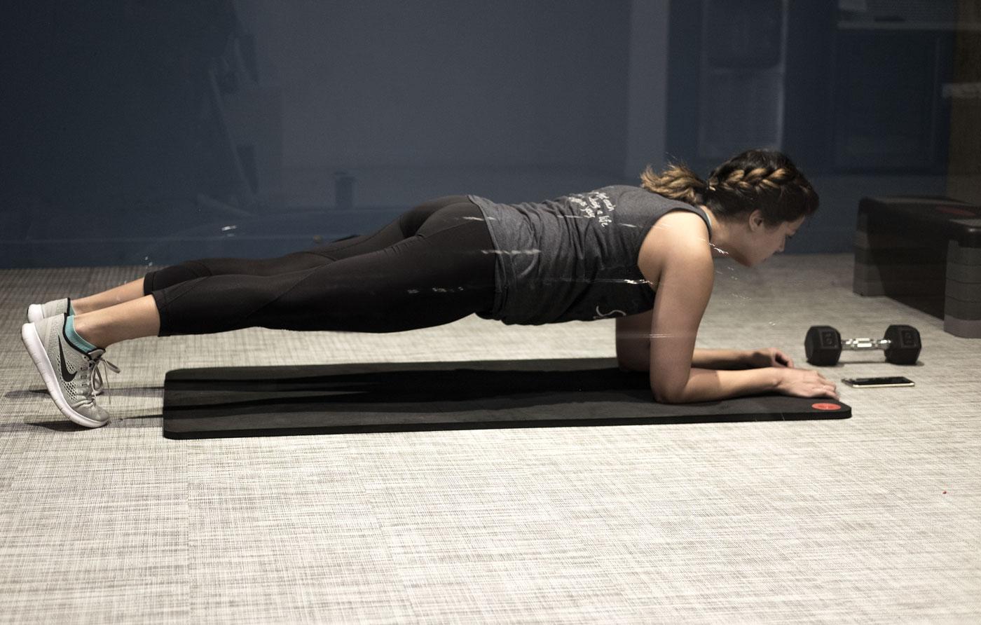 Rachel Off Duty: Rachel Performing a Plank