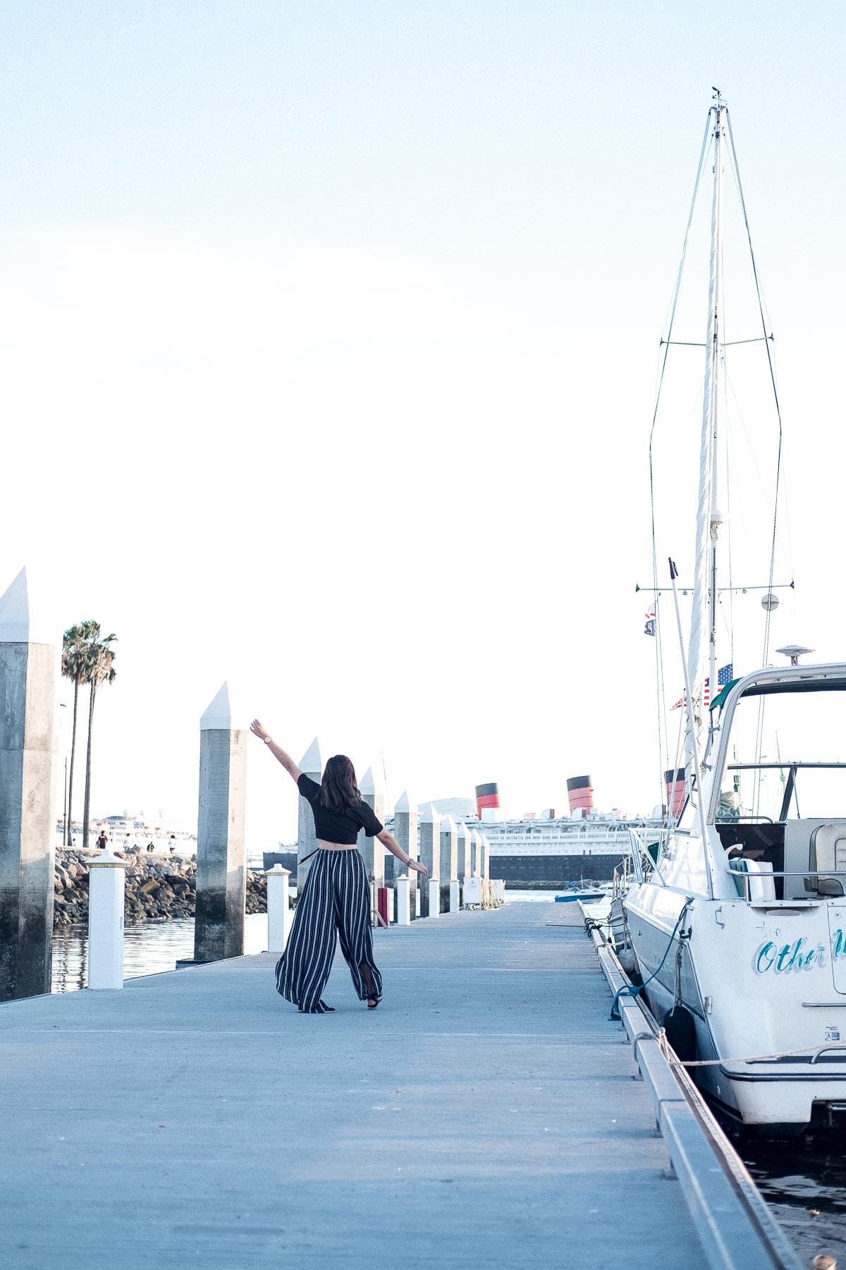 Rachel Off Duty: Wide-Legged Pants Boardwalk