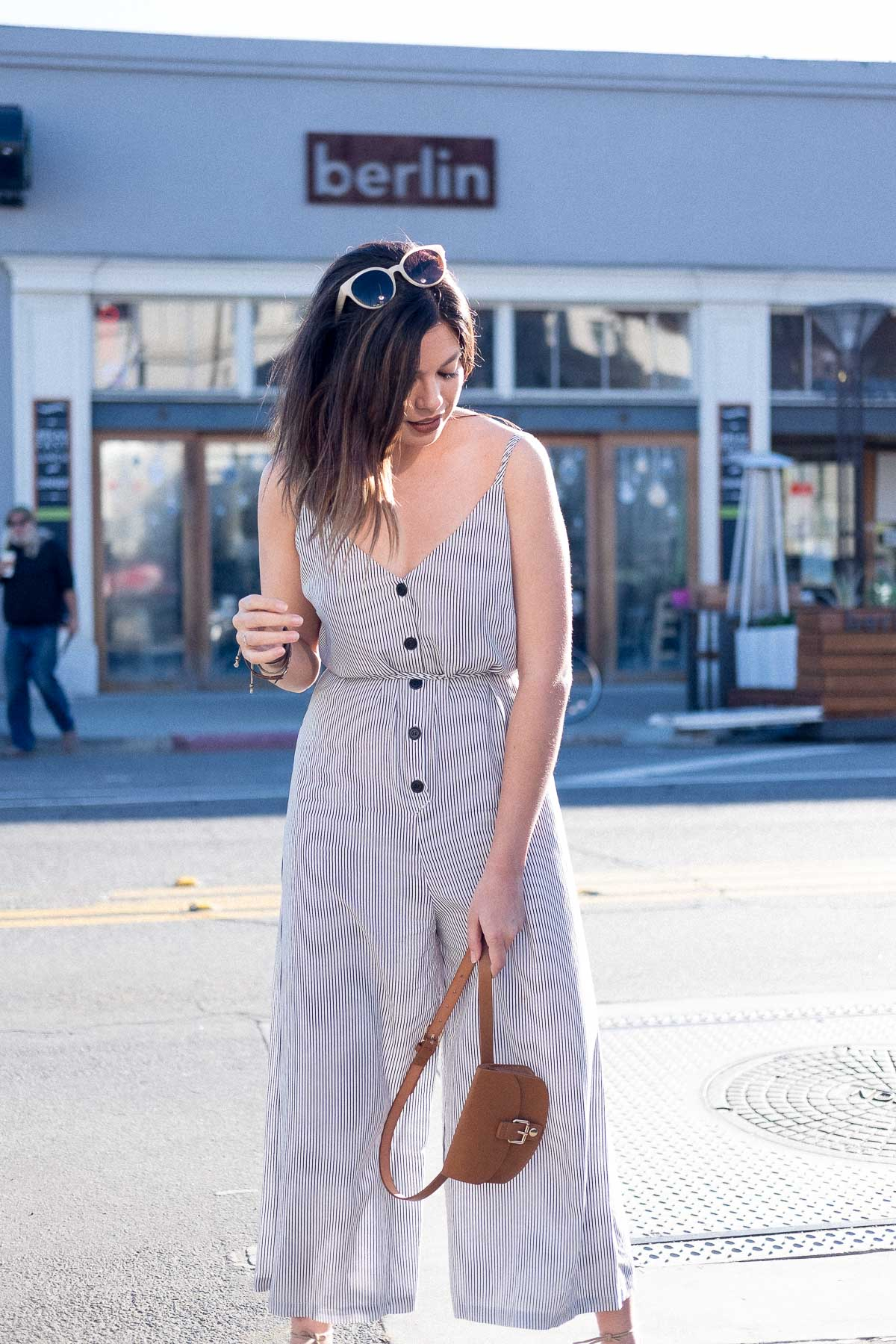 Rachel Off Duty: How to Start Networking - Jumpsuit Outfit 2
