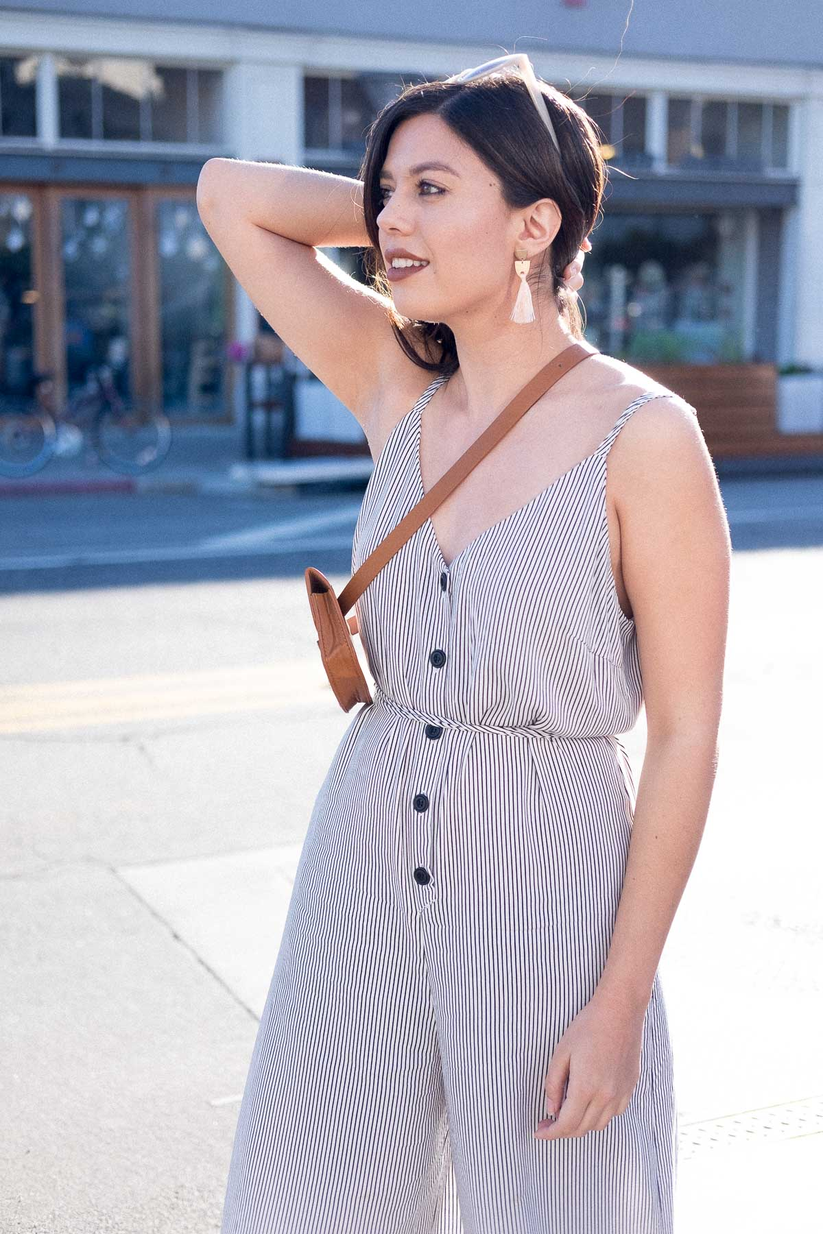 Rachel Off Duty: How to Start Networking - Jumpsuit Outfit 3