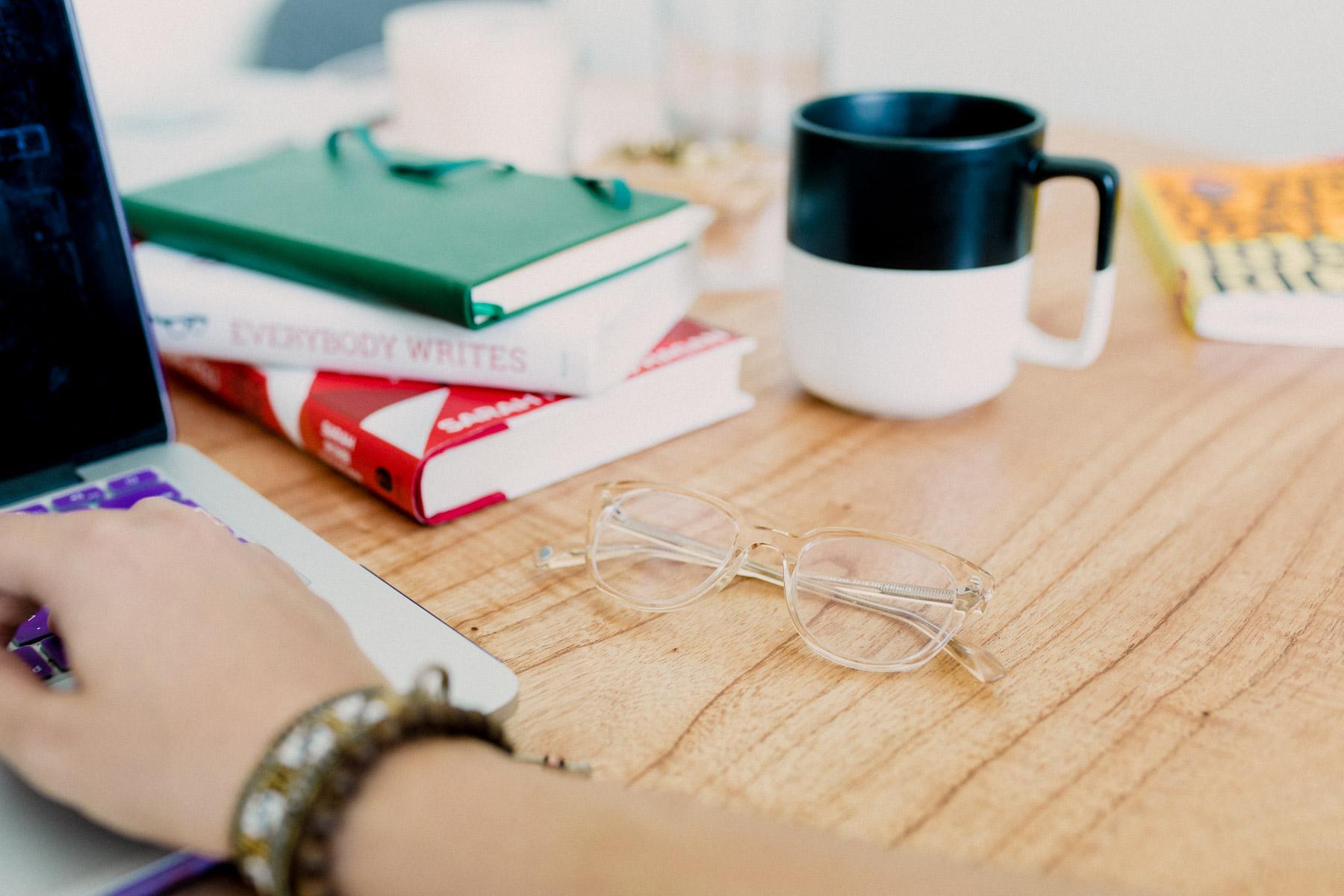 Rachel Off Duty: Glasses on a Desk