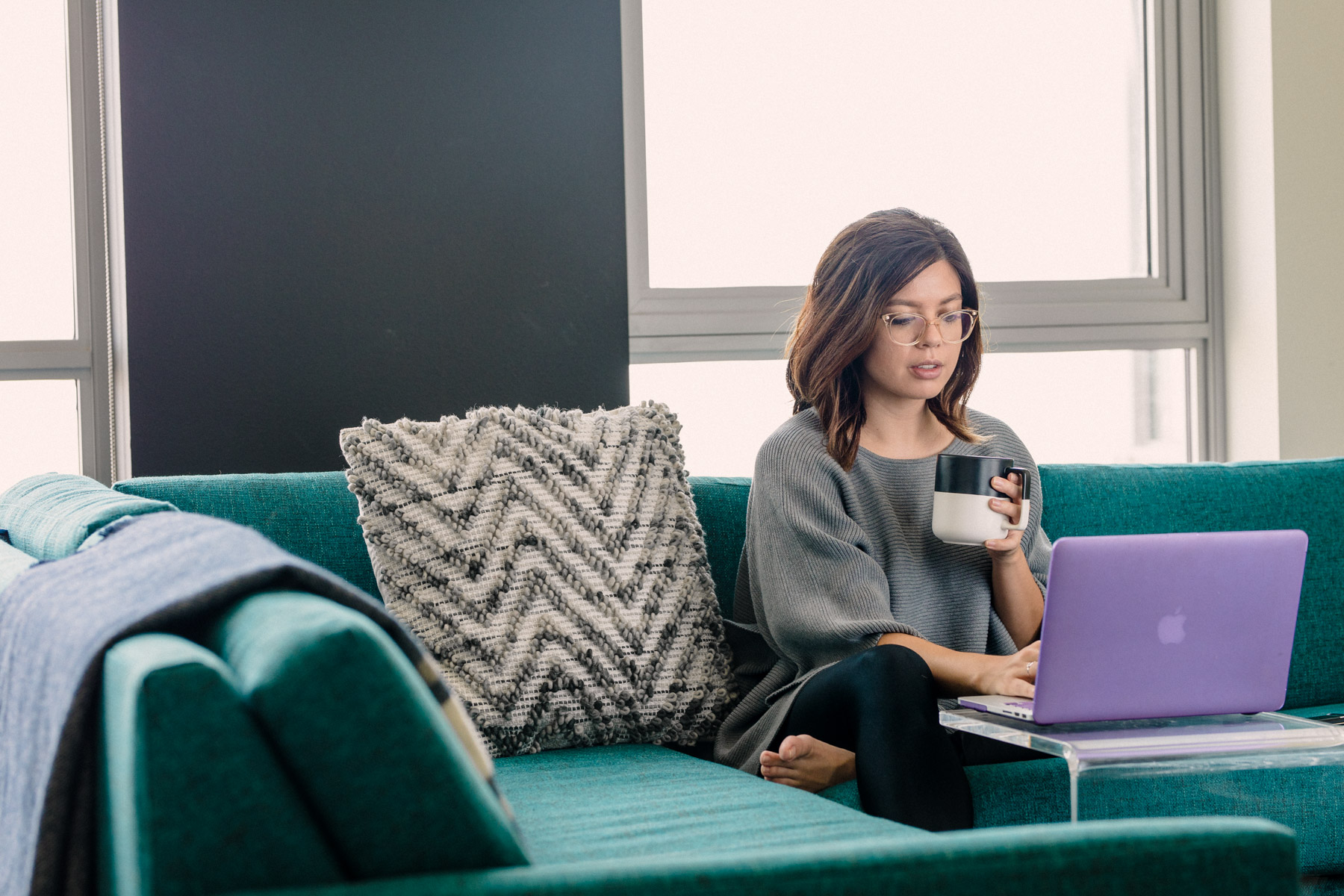 Rachel Off Duty: Woman Working From Home