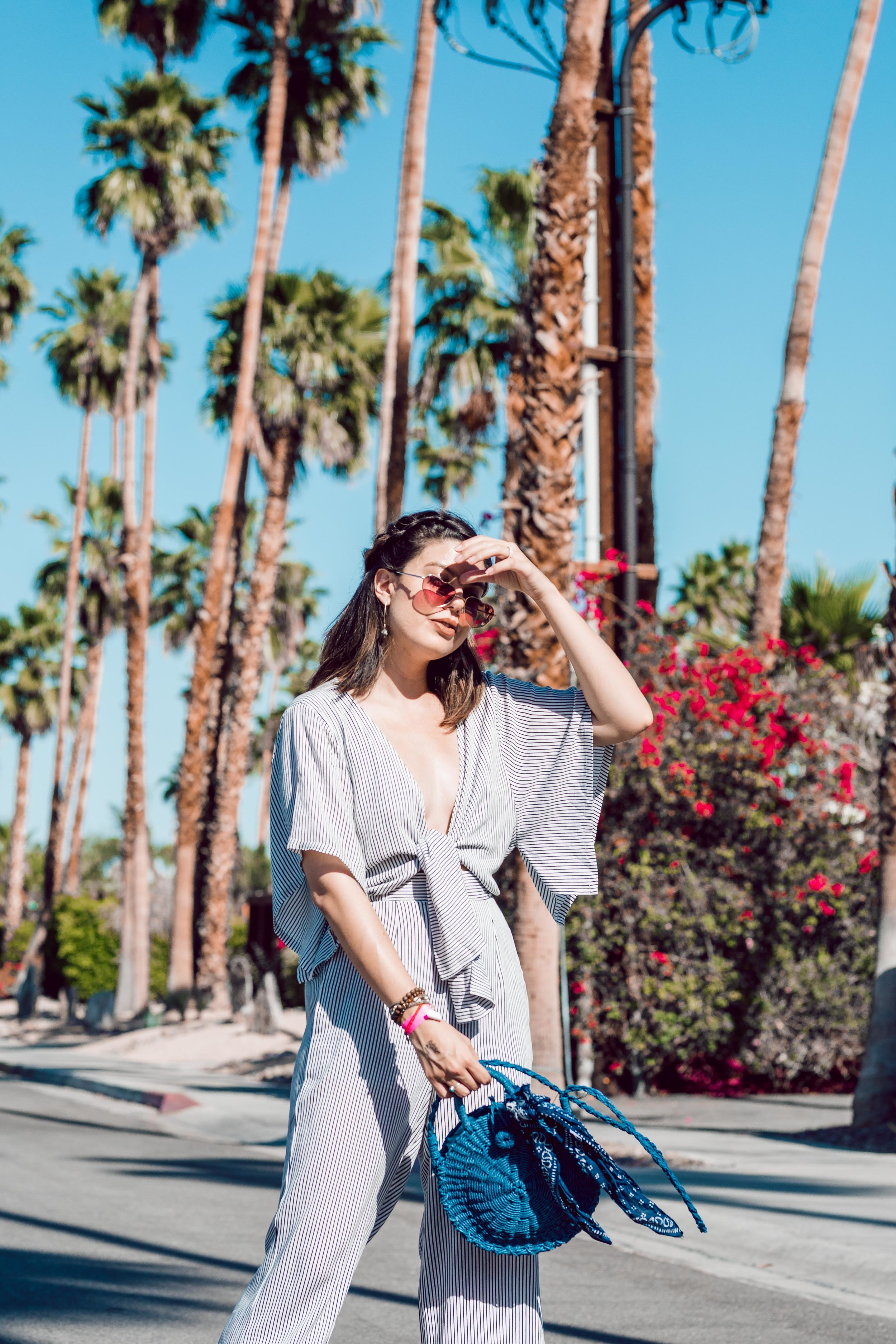 Rachel Off Duty: How to Style Patterned Jumpsuit for Summer
