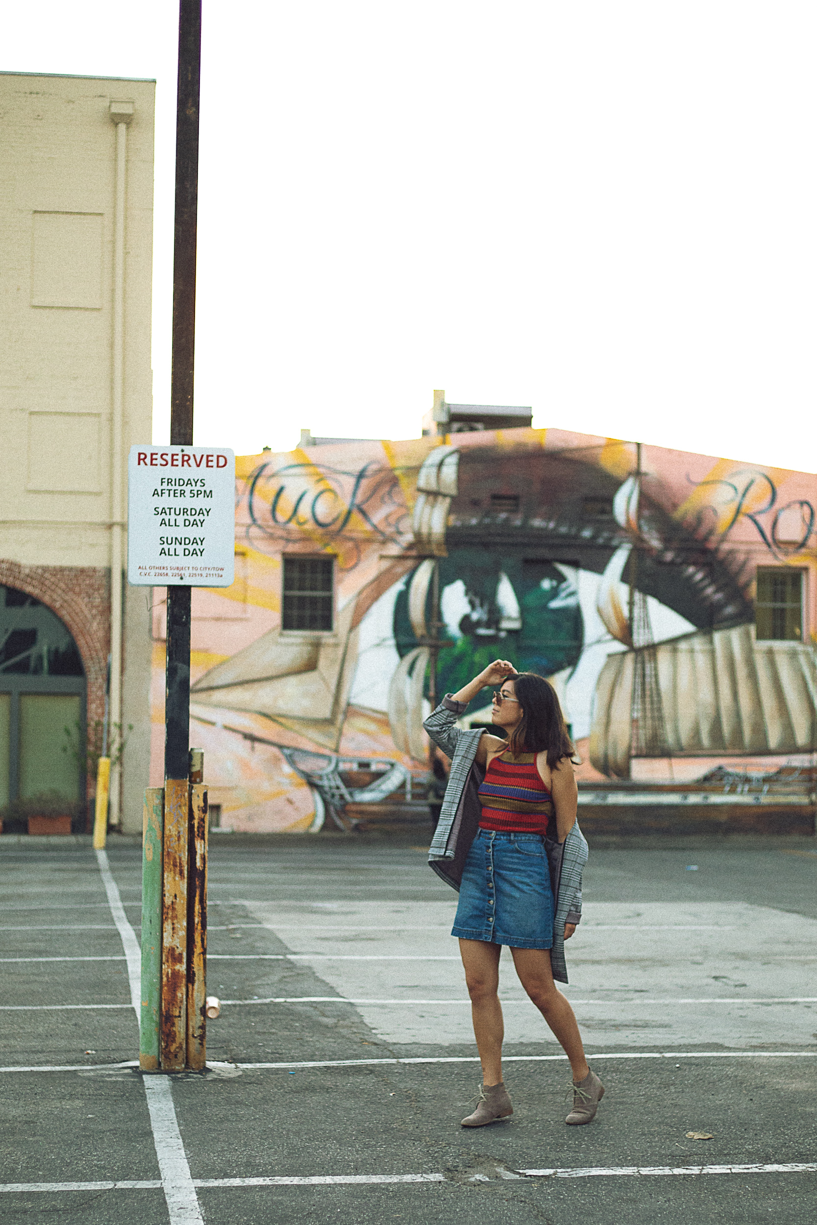 Rachel Off Duty: Fall Fashion Statements - Mock Neck Tank Top