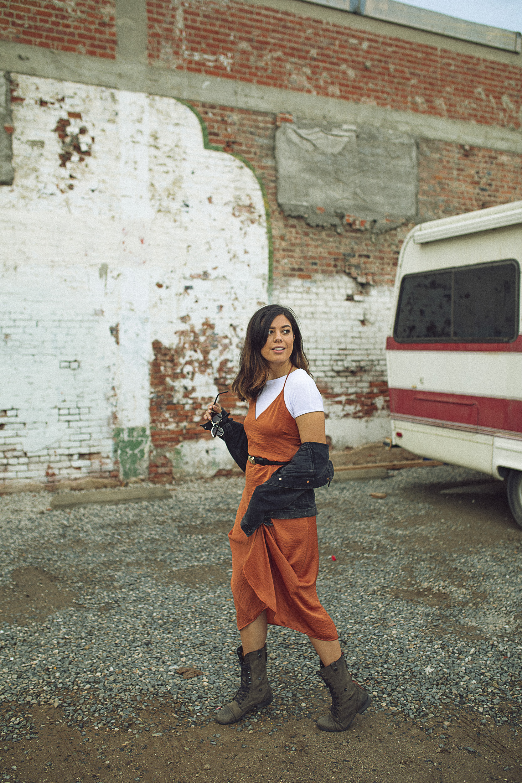 Rachel Off Duty: Fall Fashion Statements - Silk Sleeveless Slip Dress