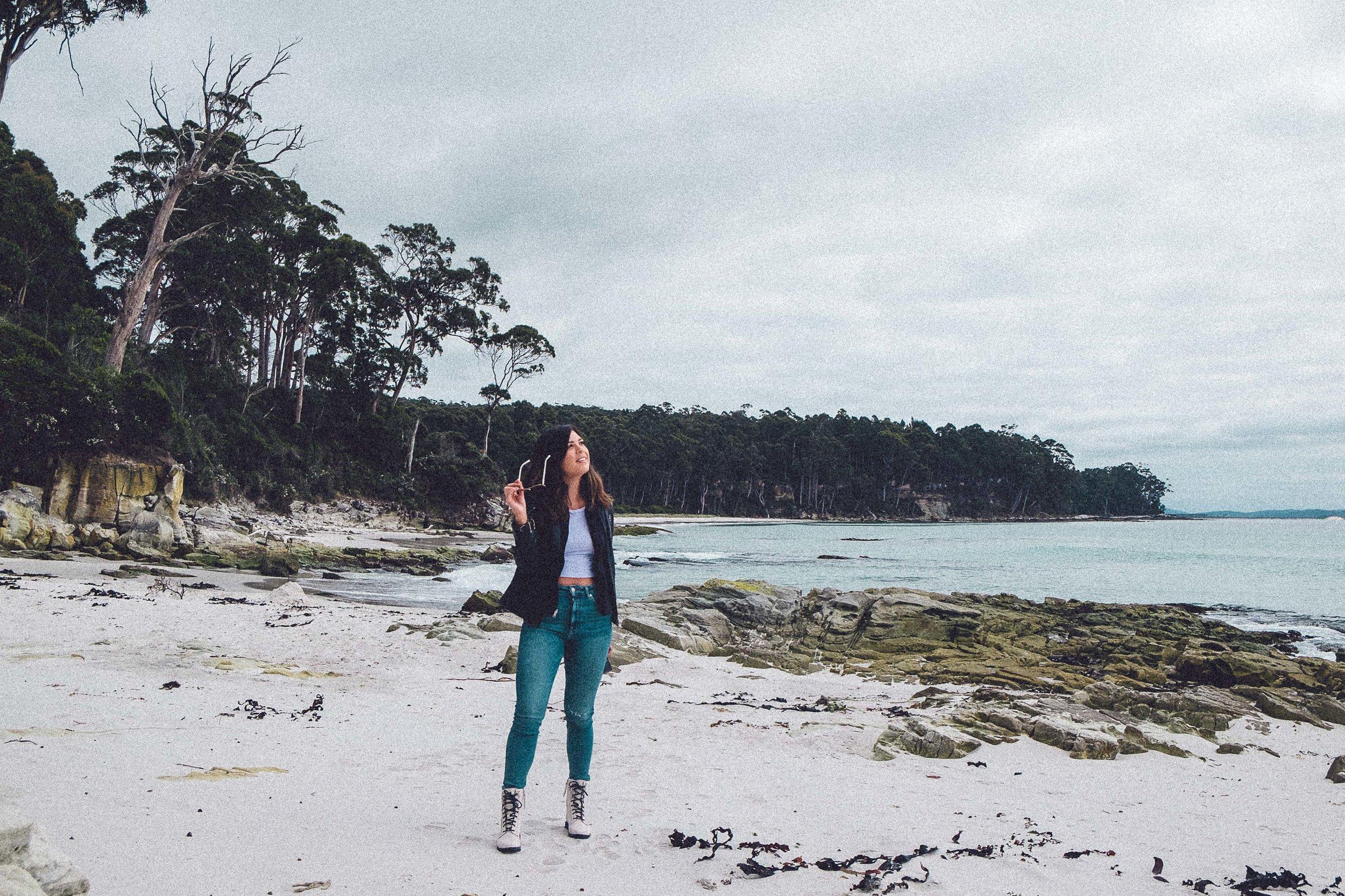 Rachel Off Duty: Woman in a Beach in Bruny Island