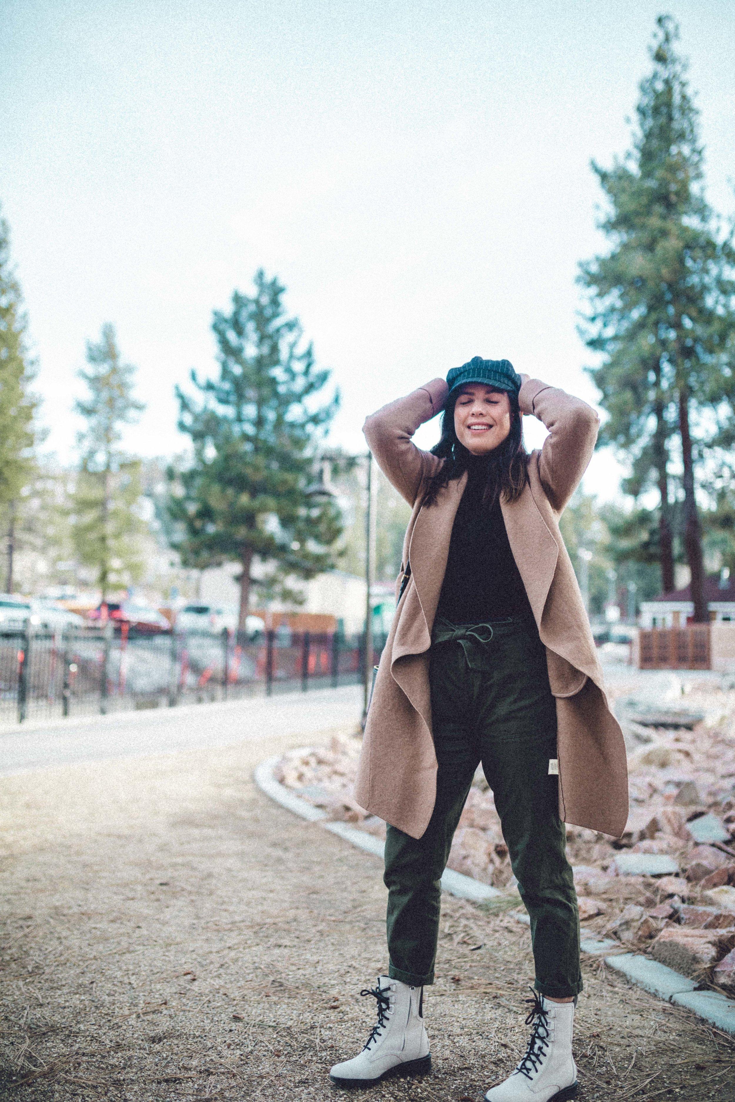 Rachel Off Duty: Woman Wearing a Coat