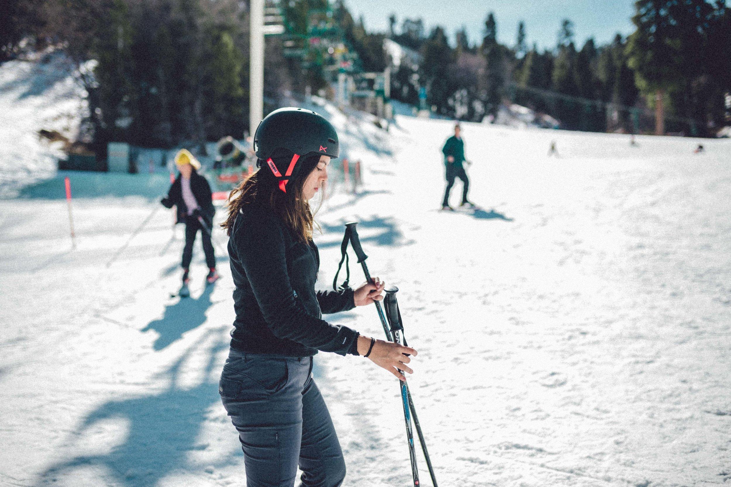 Rachel Off Duty: Woman Skiing
