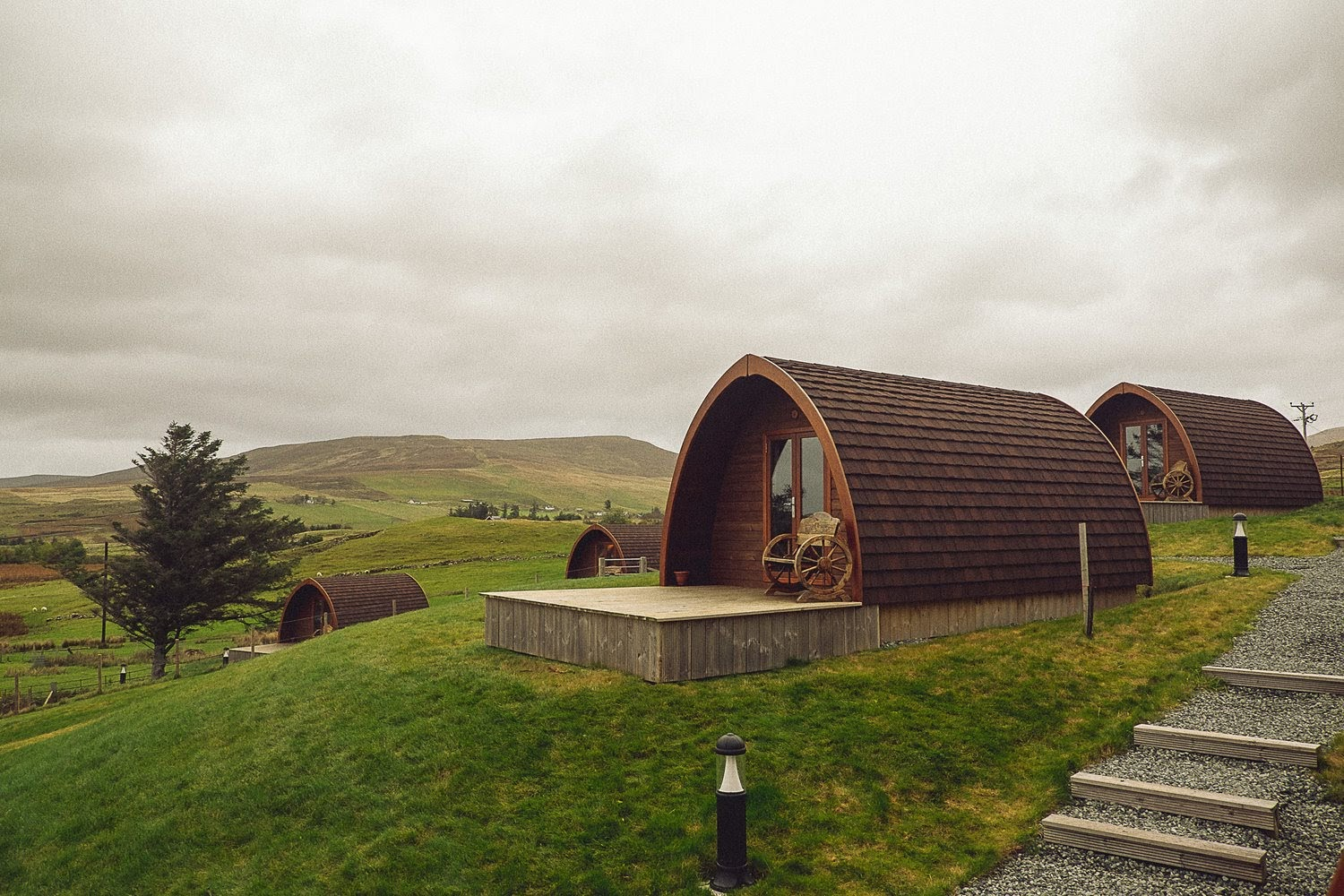 The Cowshed Boutique Bunkhouse Pods - Uig, Isle of Skye, ScotlandType: Tiny HomeBeds: 1 double, 1 sofa bed (sleeps 2-3)Cost: $