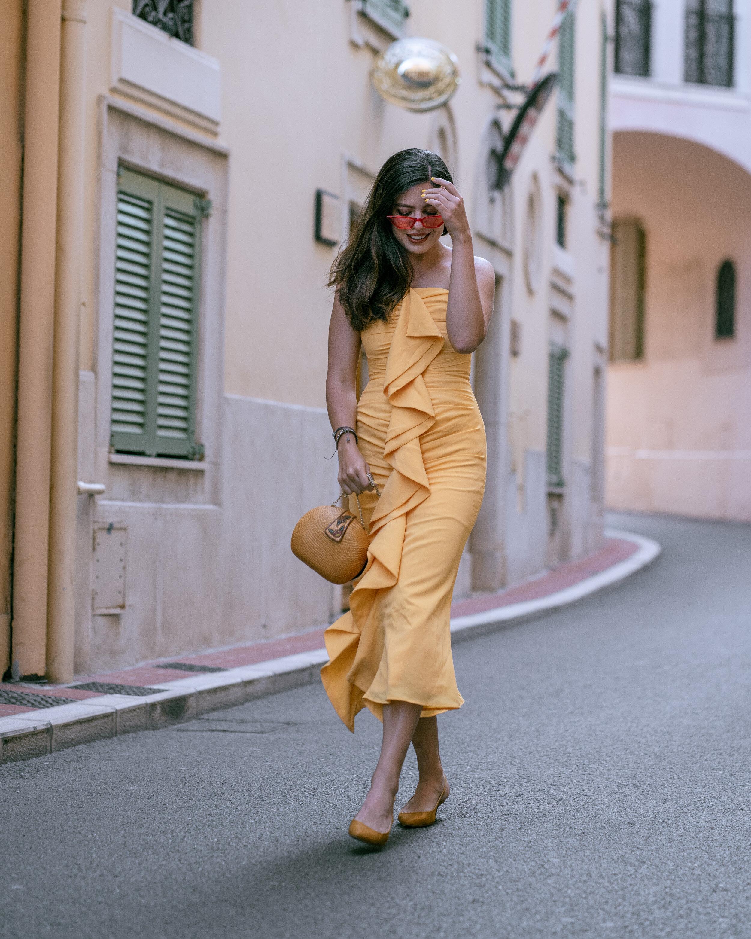 Rachel Off Duty: Woman in a Yellow Dress
