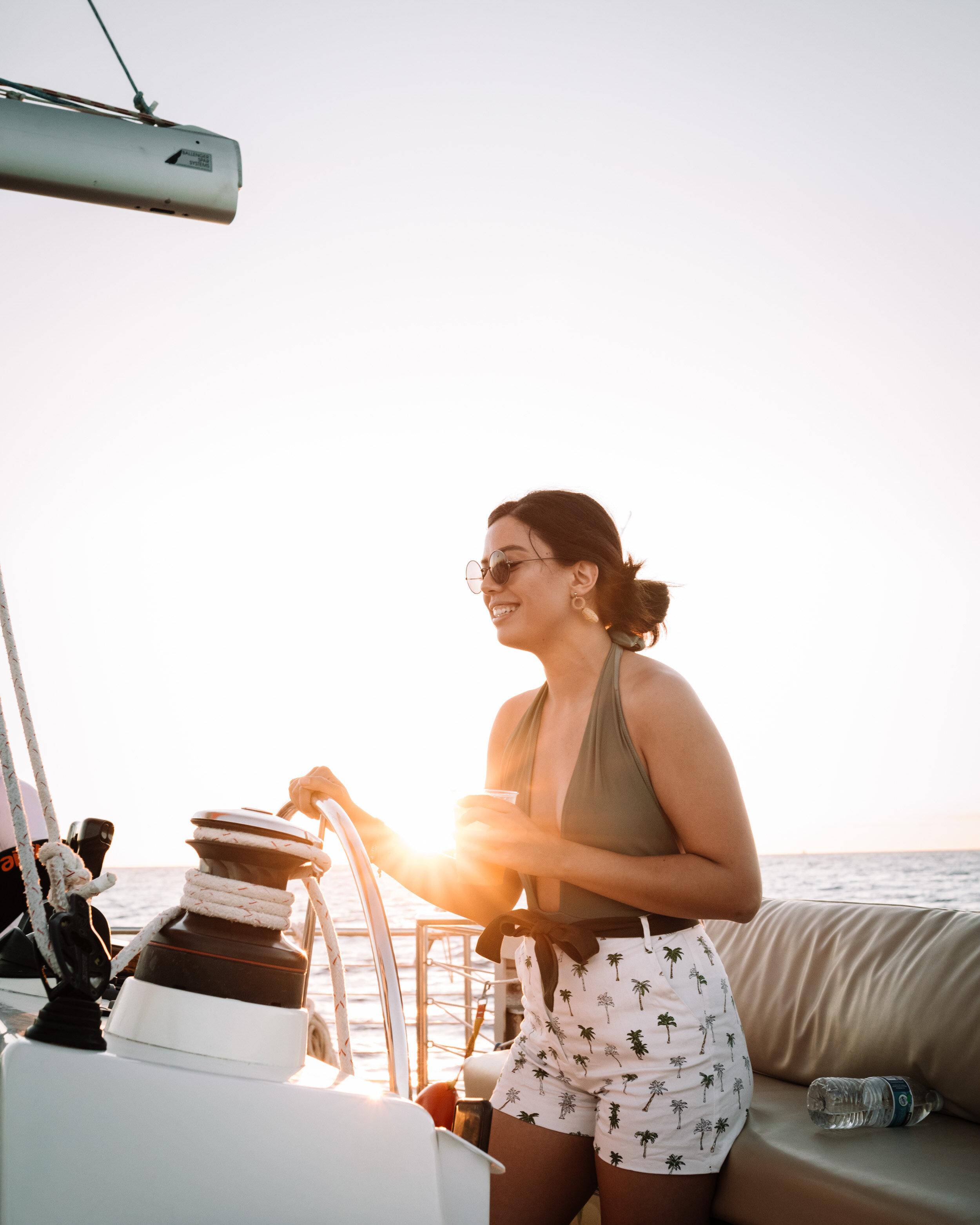 Rachel Off Duty: Woman on a Boat