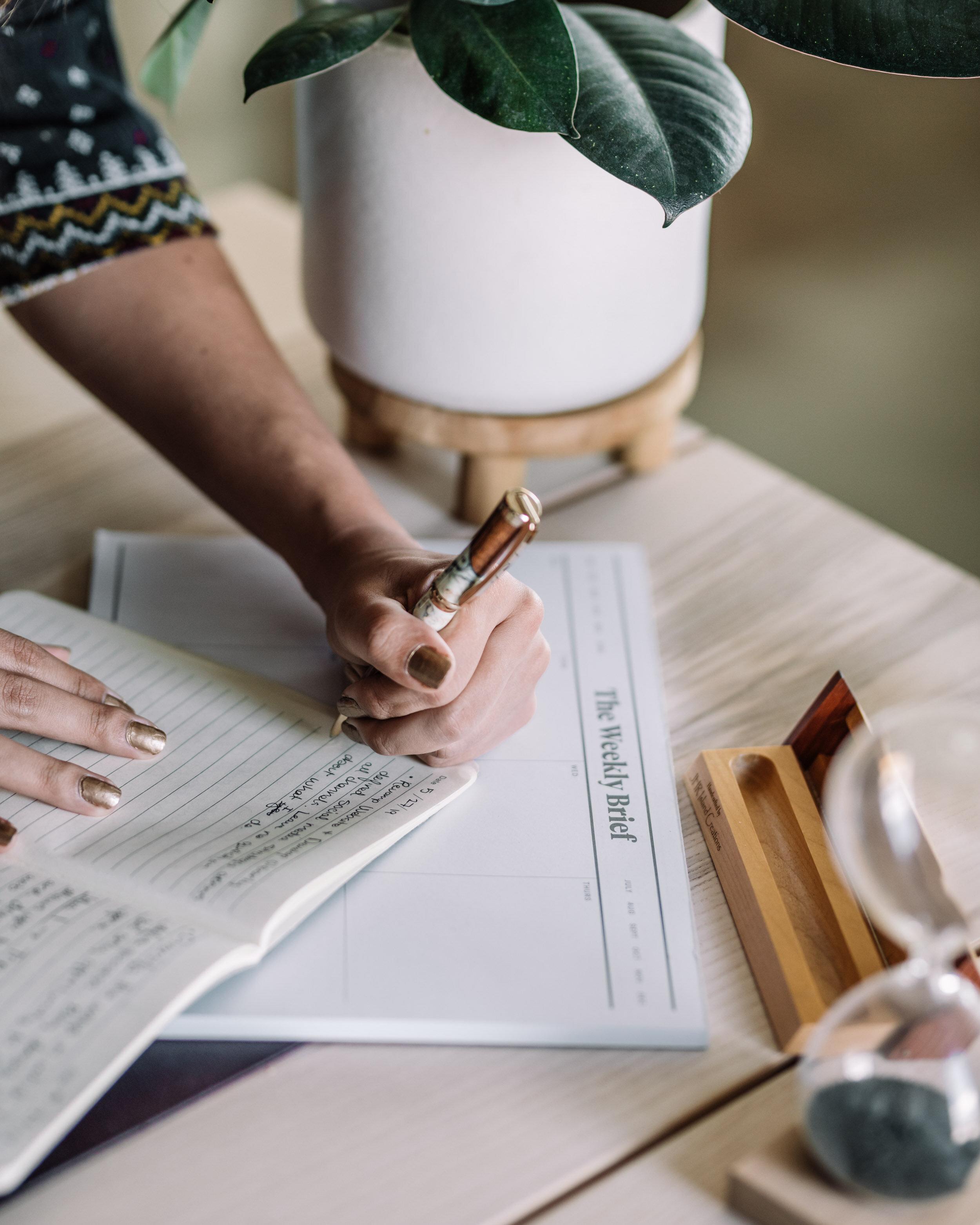 Woman Taking Notes - Rachel Off Duty