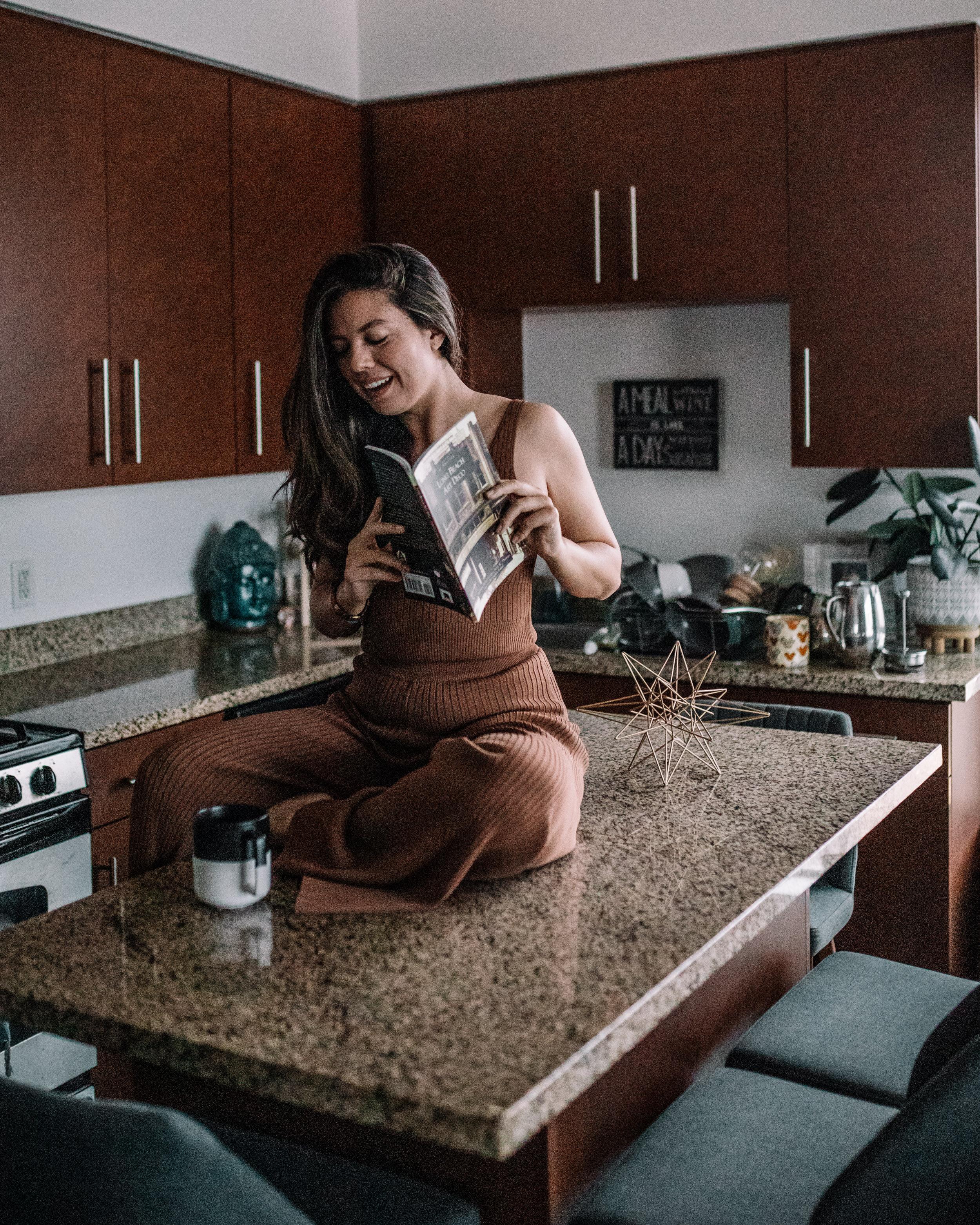 Woman with a Magazine - Rachel Off Duty