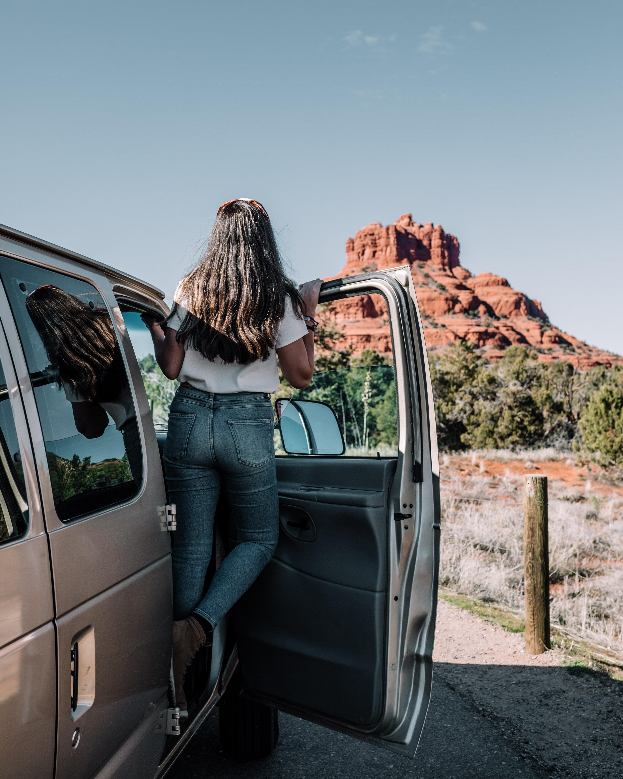 Rachel Off Duty: Woman in Car in Yosemite