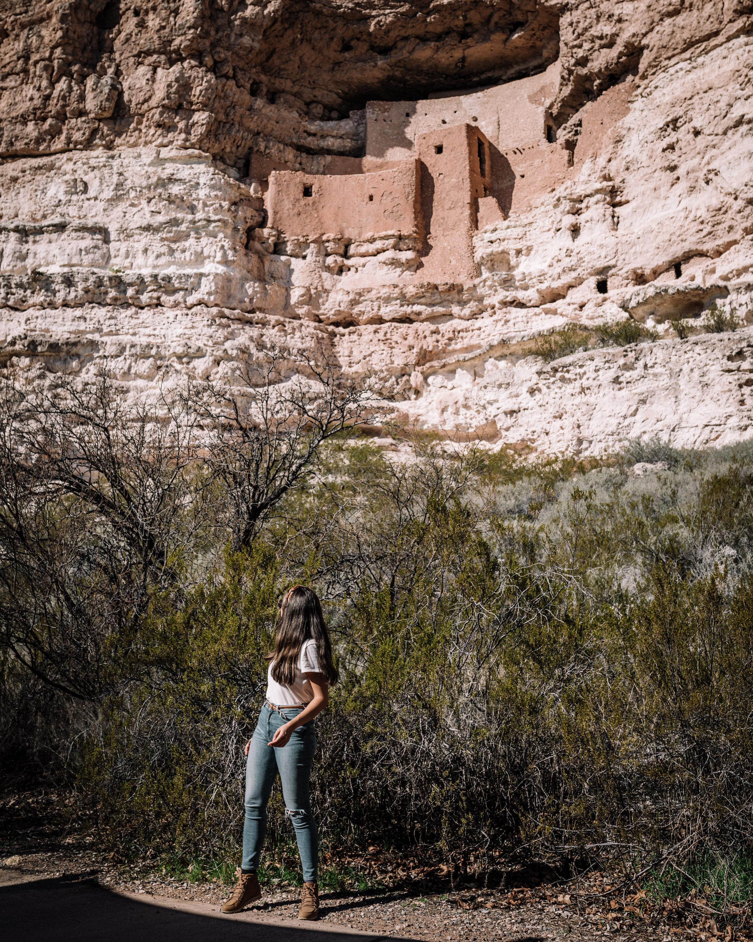 Rachel Off Duty: Woman Standing In Front of Montezuma Castle National Monument