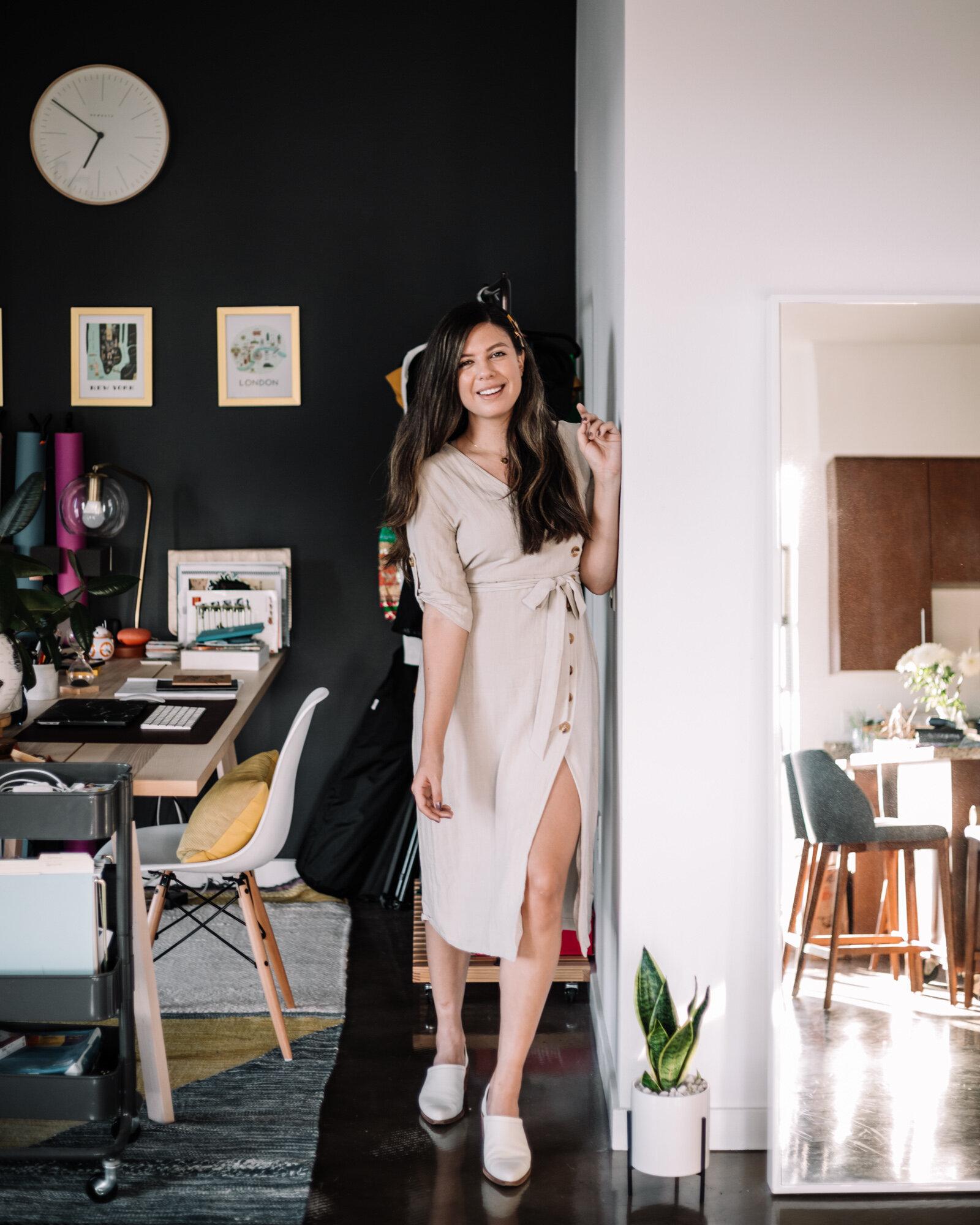 Rachel Off Duty: Rachel Standing in Home Office