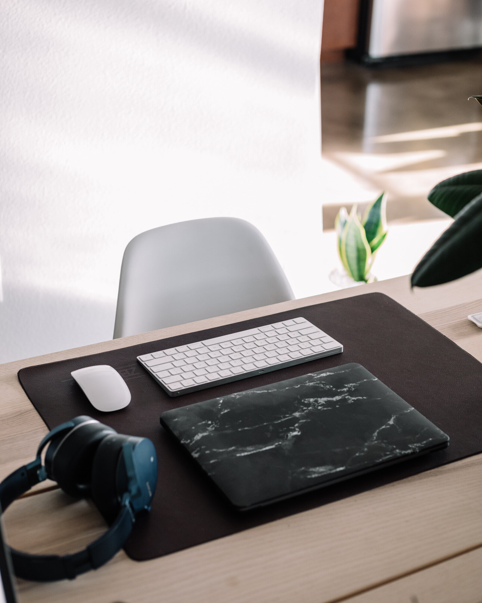 Rachel Off Duty: Home Office Chair, Computer, and Headphones