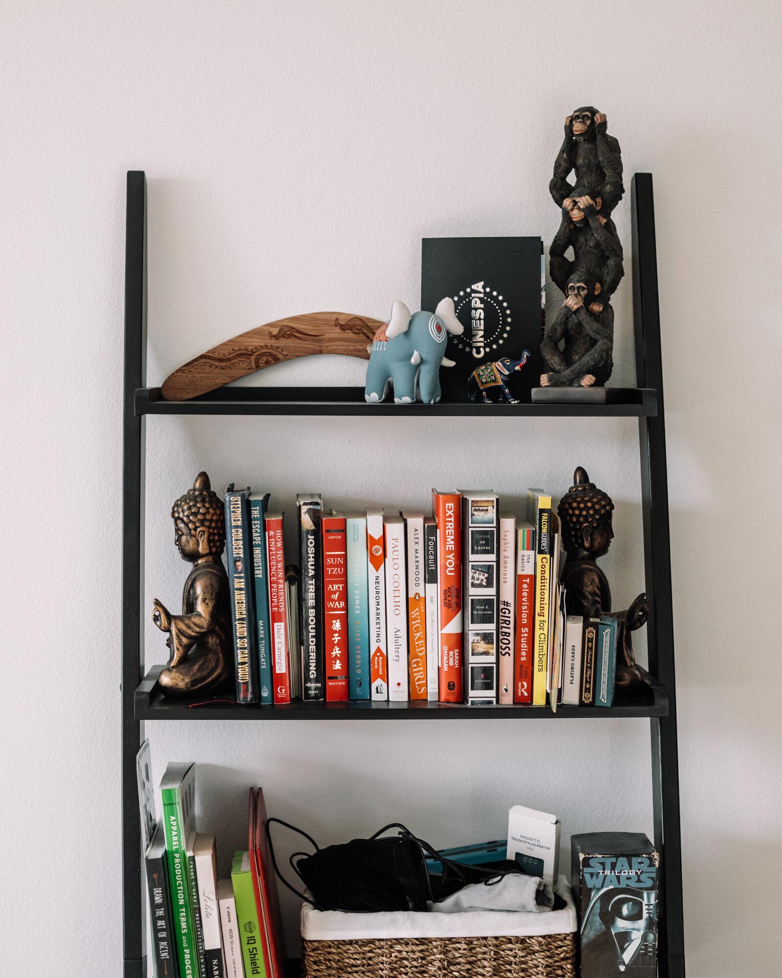 Rachel Off Duty: Home Office Bookshelf with Books