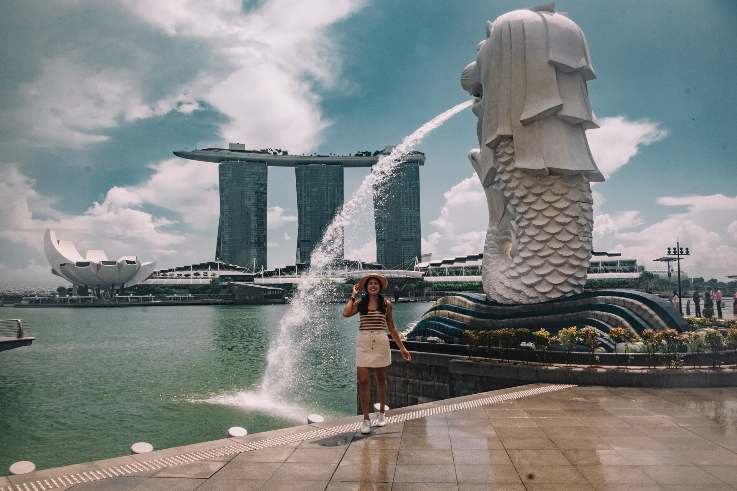 Rachel Off Duty: Rachel in Singapore at the Merlion