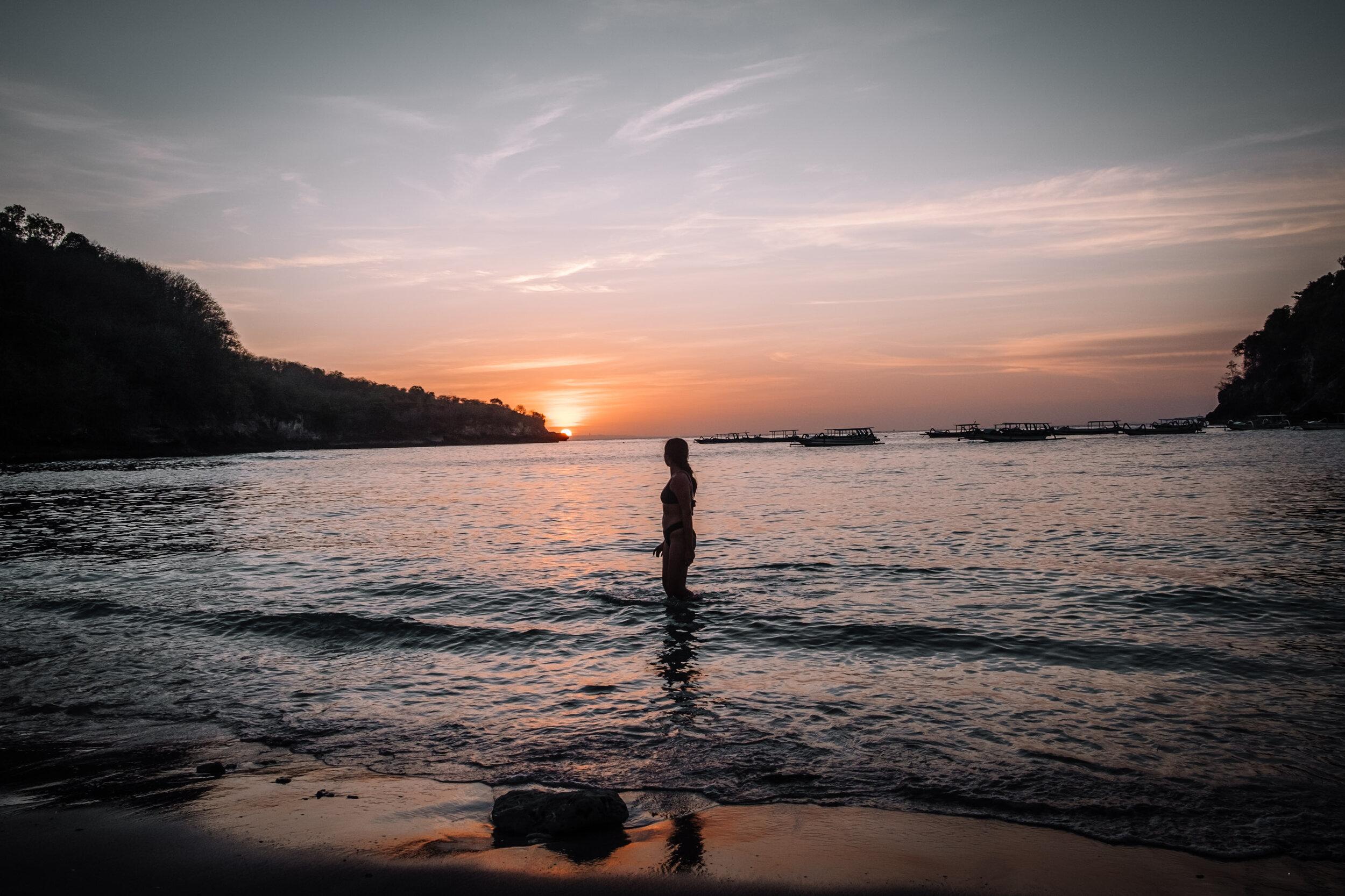 Rachel Off Duty: Woman in the Sea in Bali