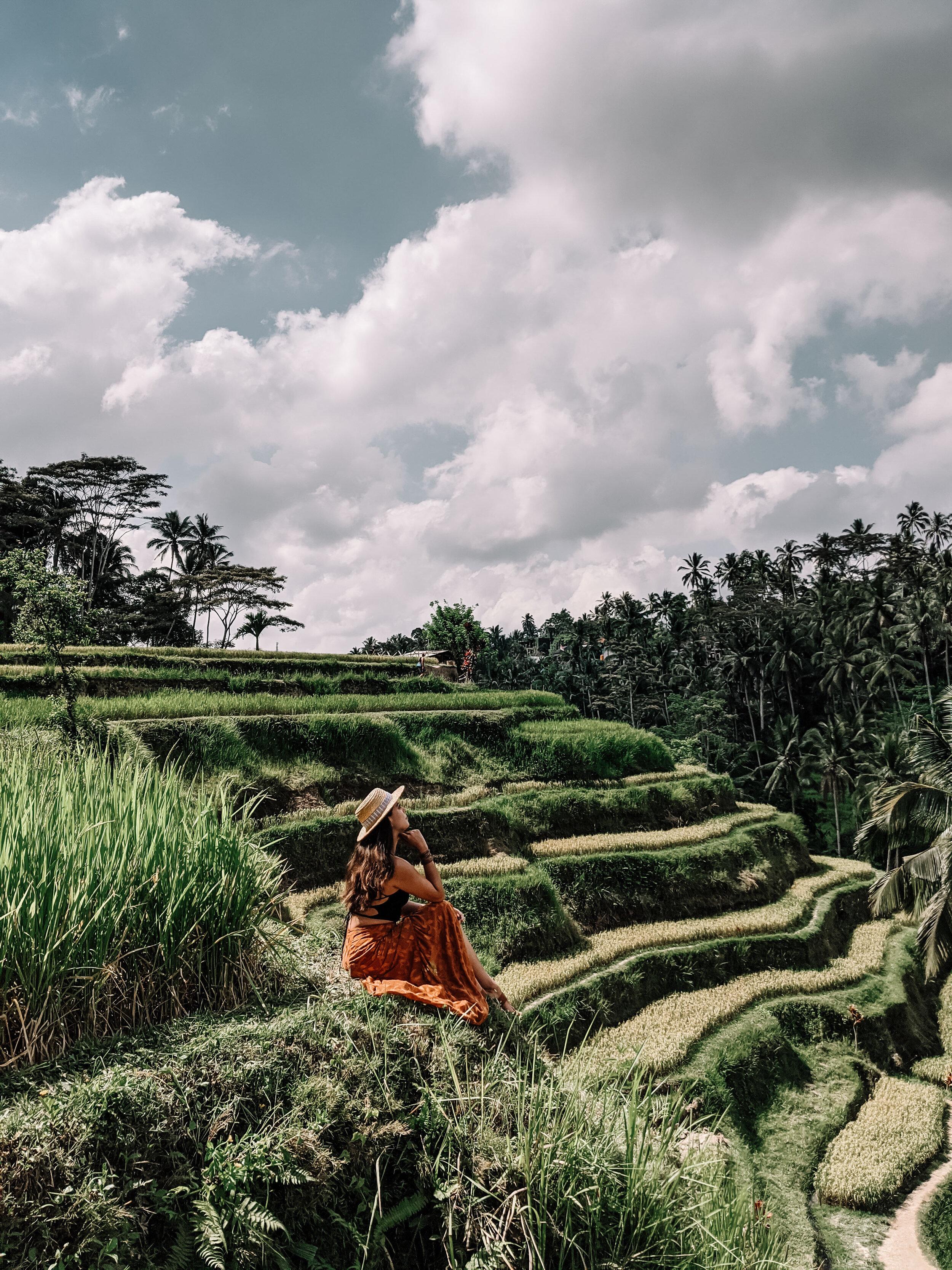 Rachel Off Duty: Woman in Rice Terraces in Bali
