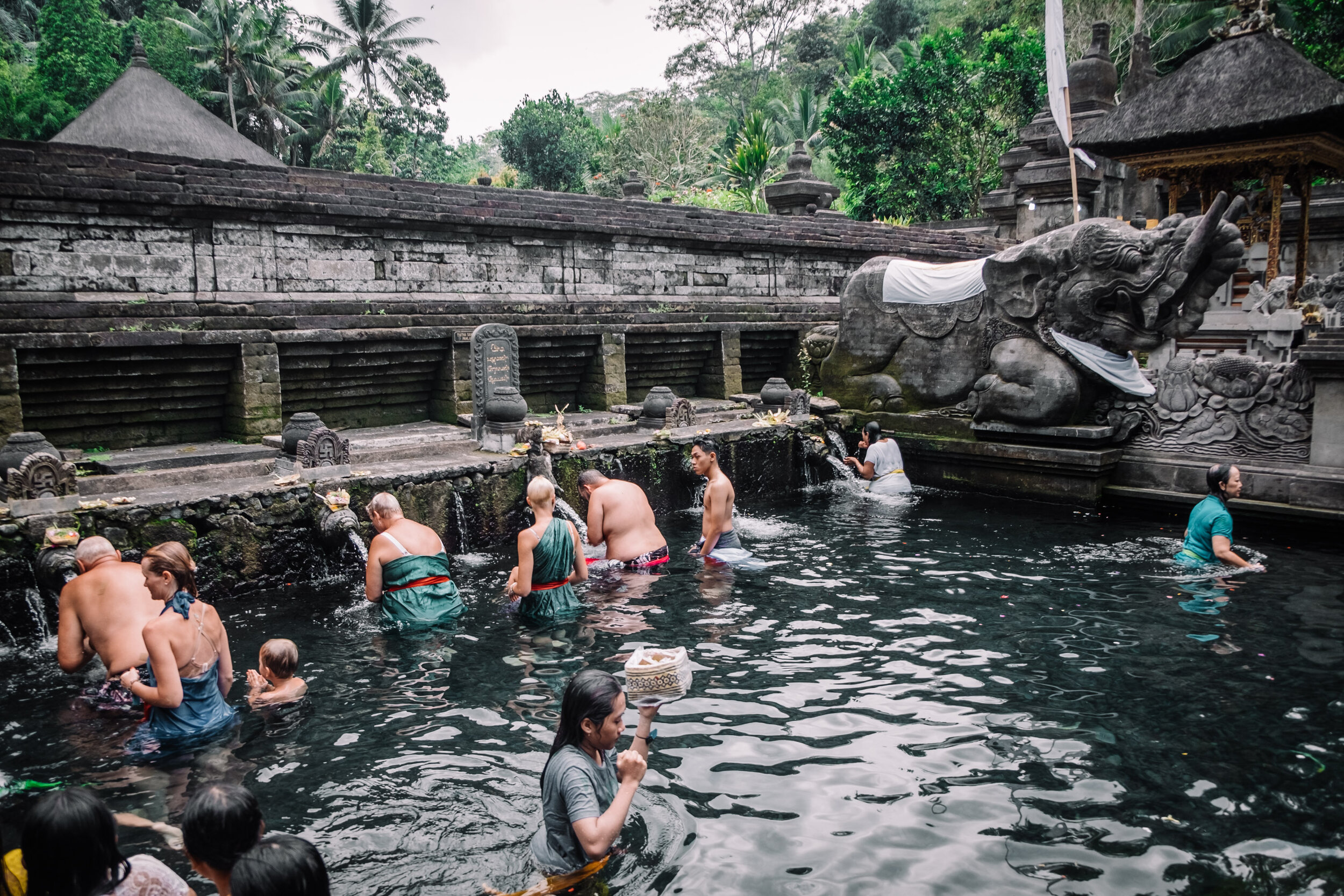 Rachel Off Duty: Pura Tirta Empul Fountains in Bali