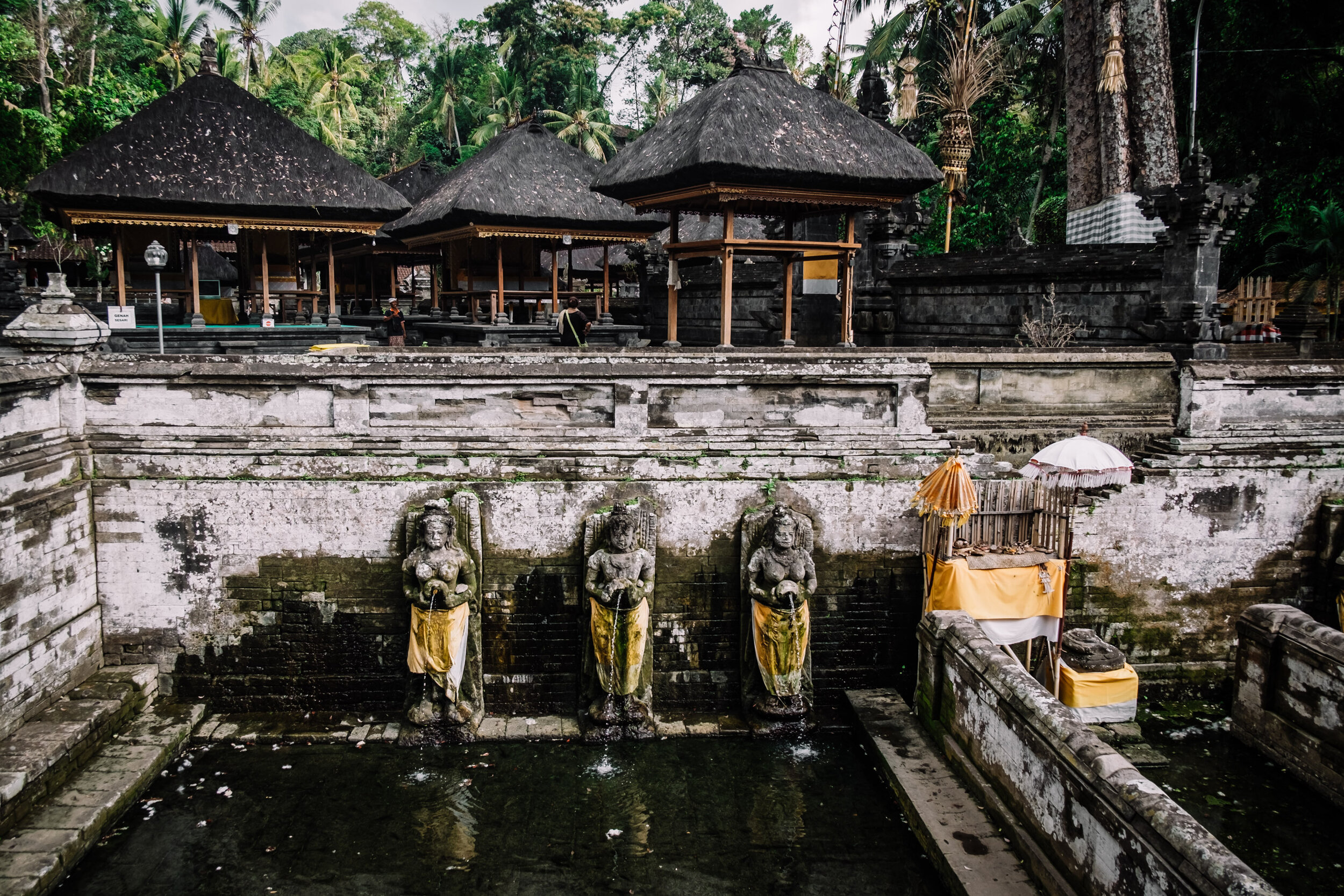 Rachel Off Duty: Goa Gajah Fountains in Bali
