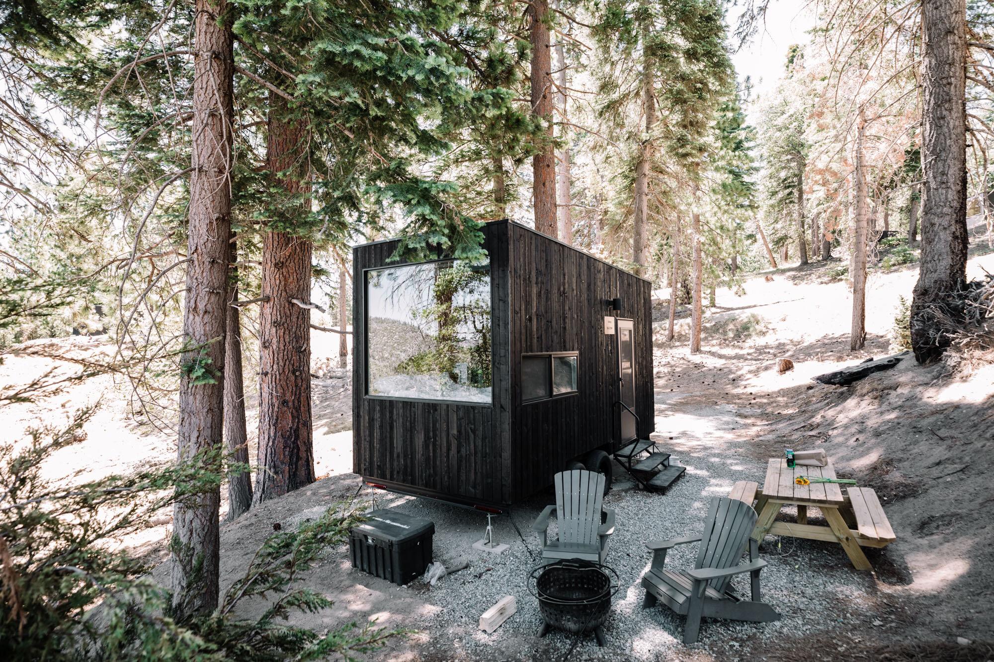Rachel Off Duty: The Getaway House Tiny Cabin Exterior