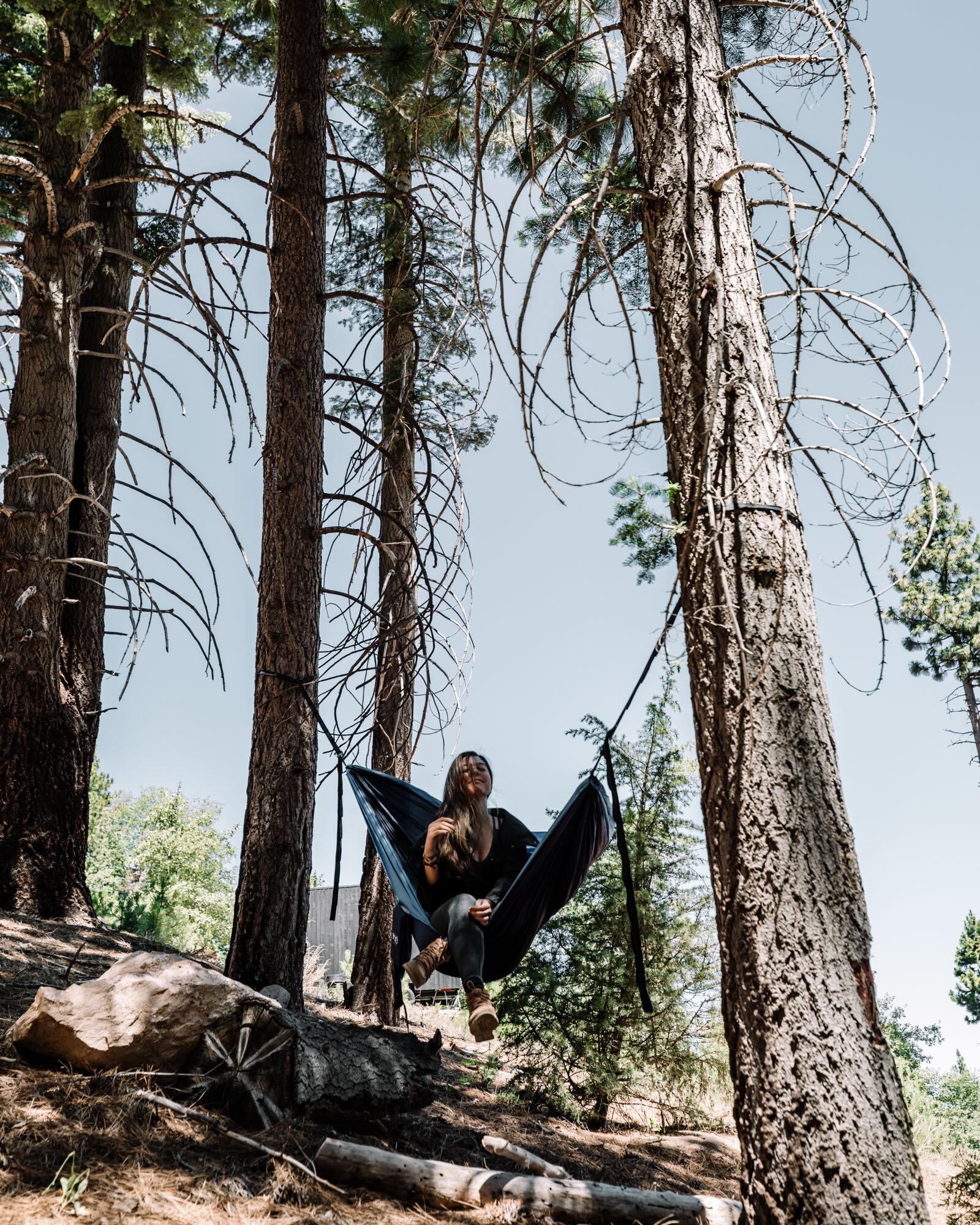 Rachel Off Duty: Girl in Hammock in Big Bear, California