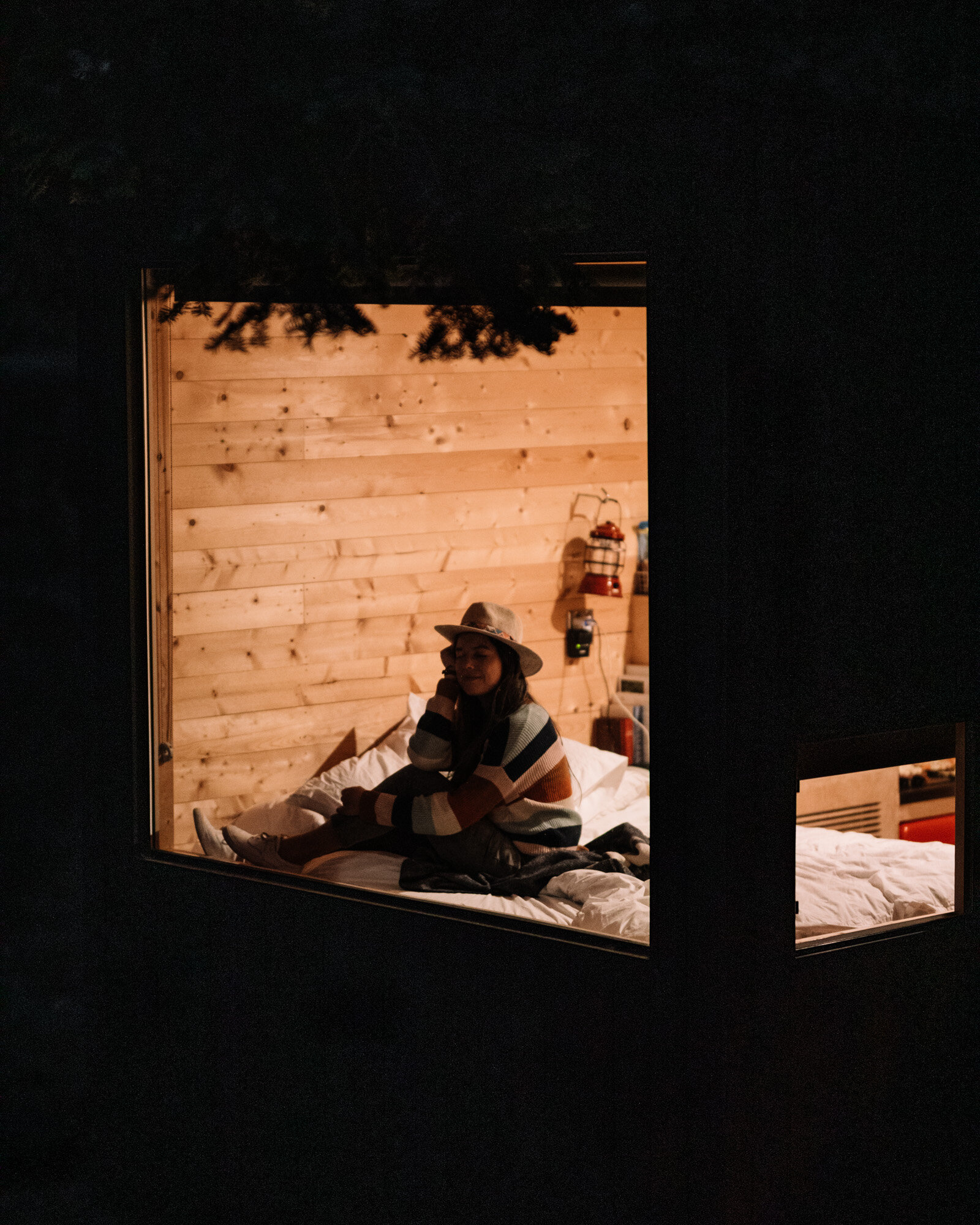 Rachel Off Duty: Girl in Window at The Getaway House, Big Bear