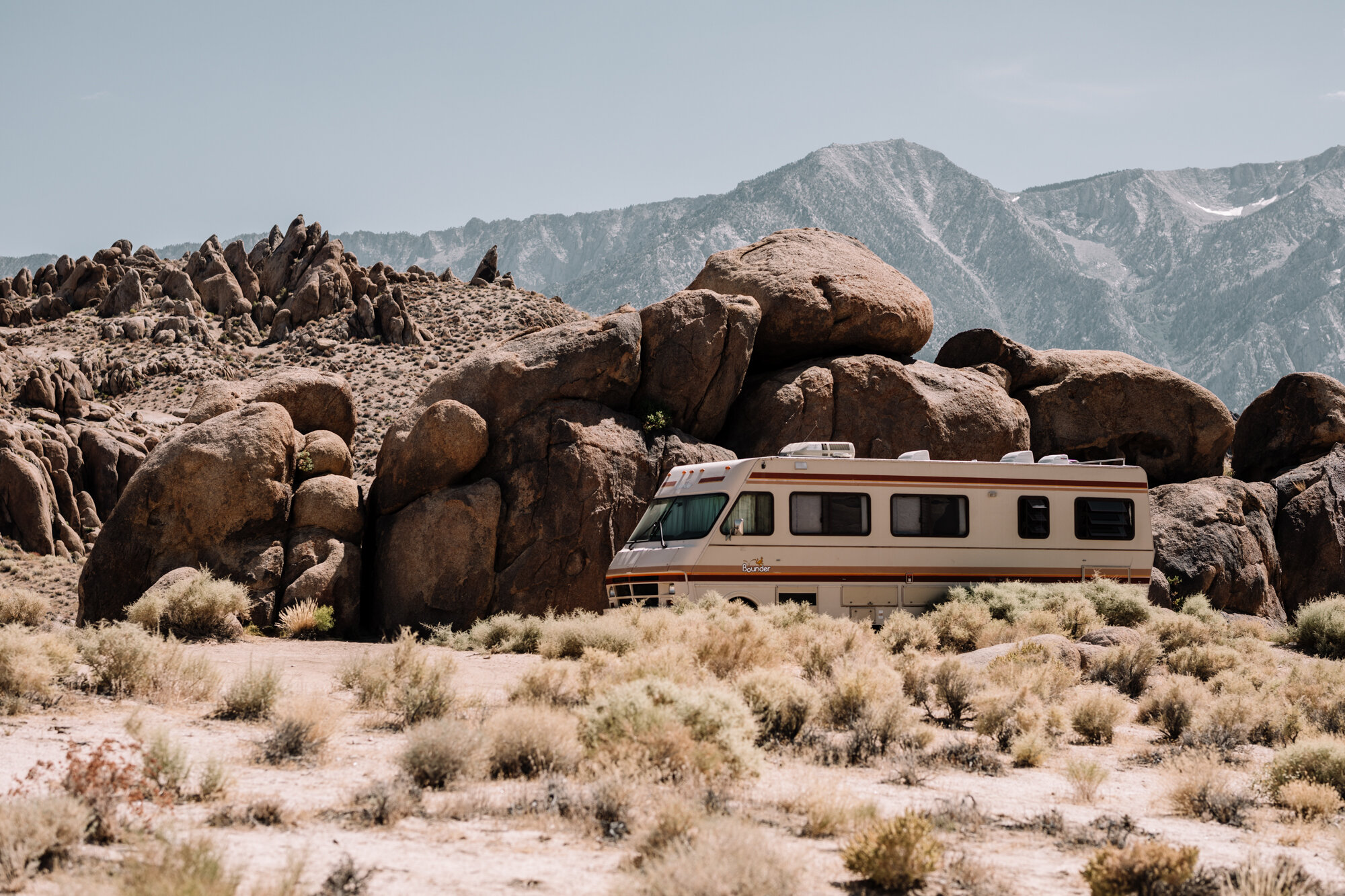 Rachel Off Duty: RV parked in Alabama Hills, California