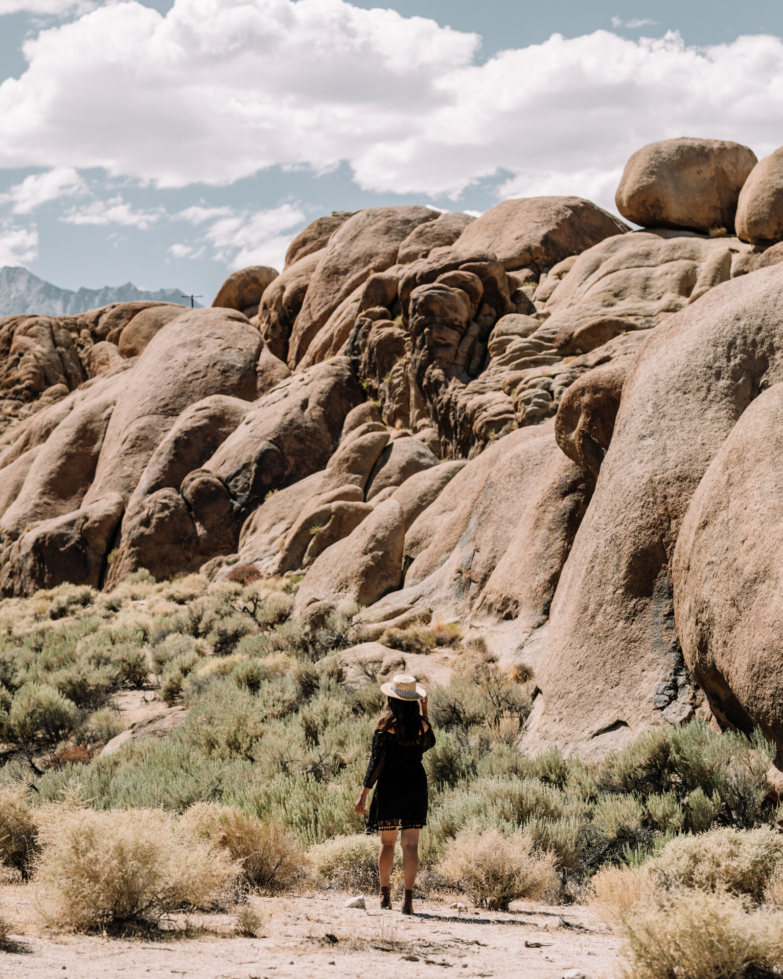 Rachel Off Duty: Woman Posing for a Photo in Alabama Hills, California