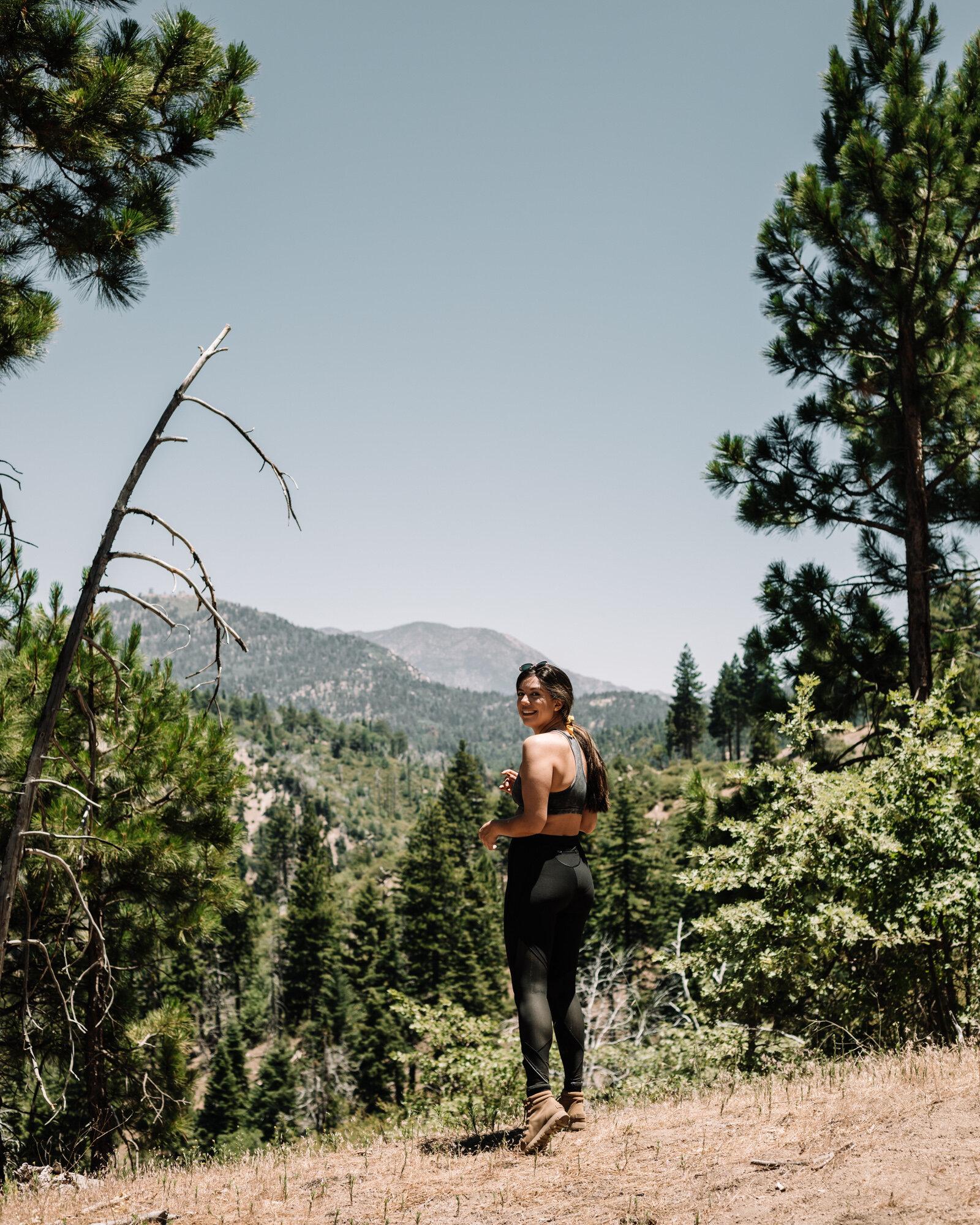 Rachel Off Duty: Woman Hiking in Big Bear, California
