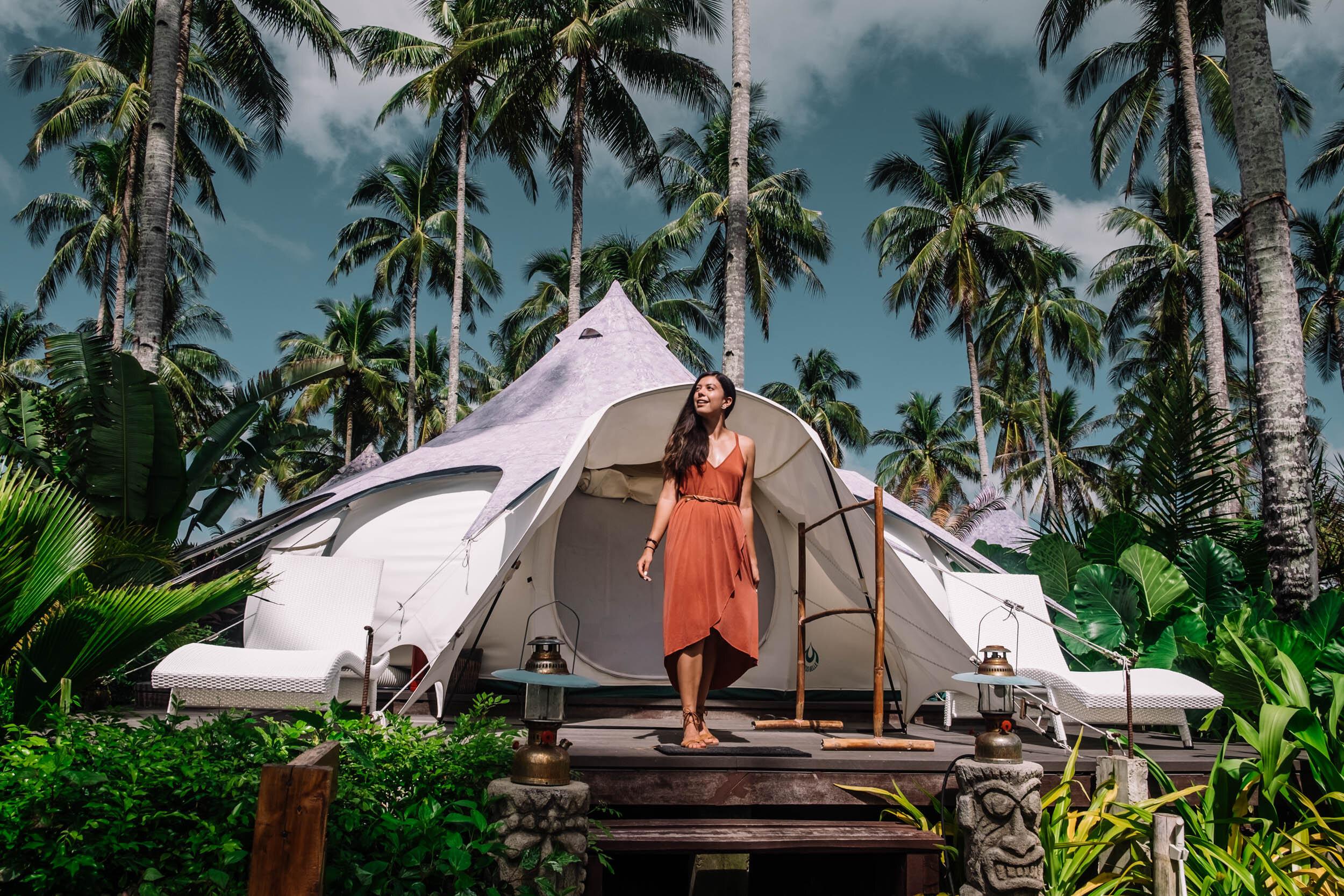 Rachel Off Duty: Nacpan Beach Glamping in El Nido, Philippines