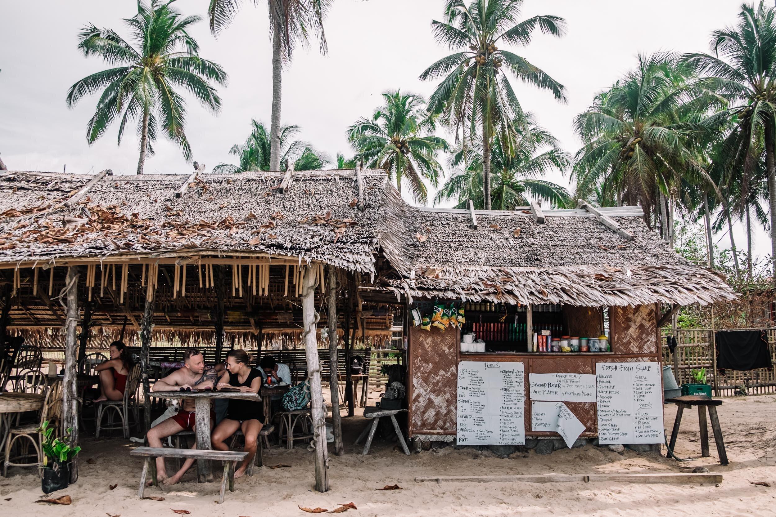 Rachel off Duty: Beach Cafe in Nacpan Beach, Palawan