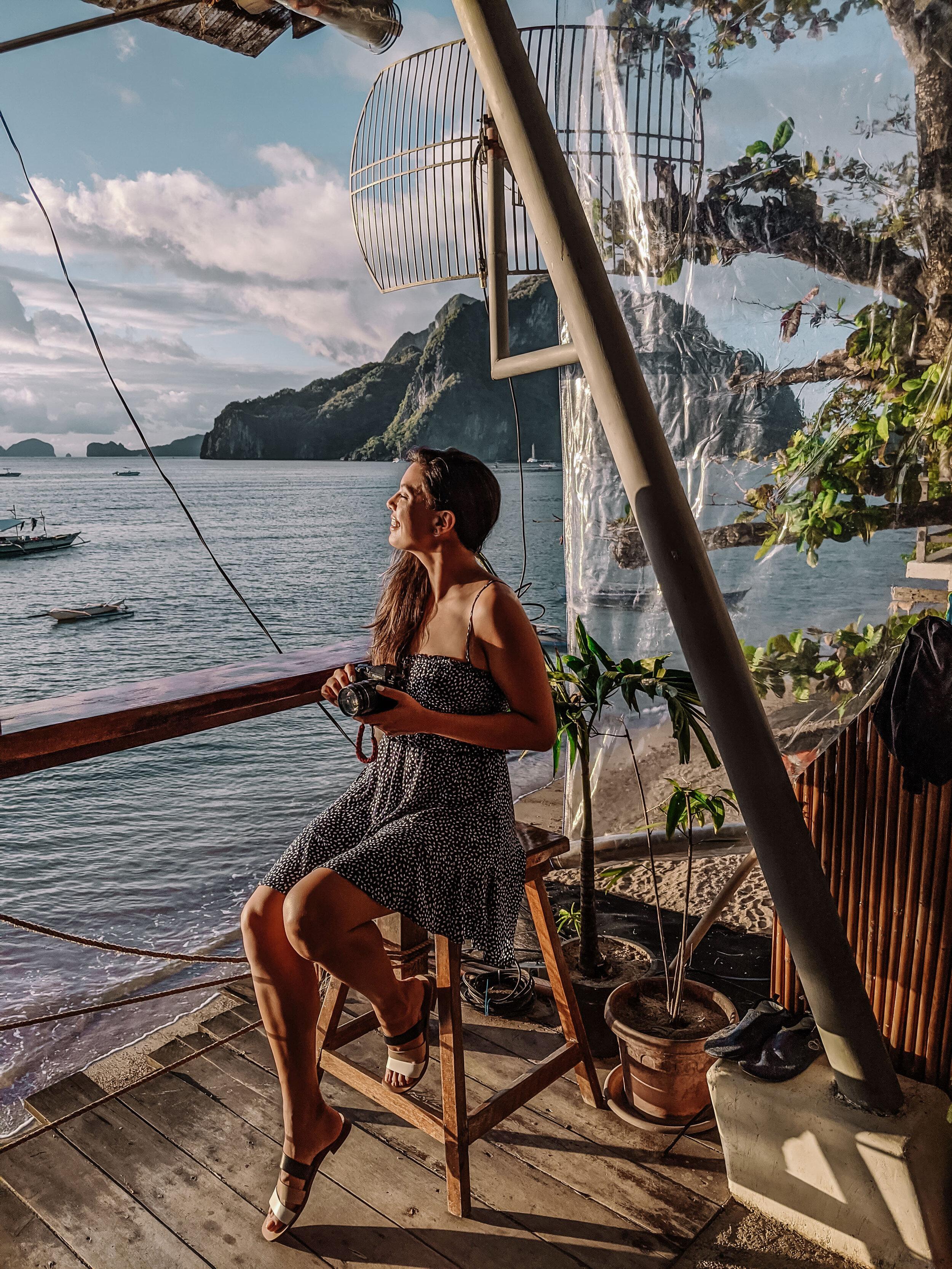 Rachel Off Duty; Woman at Corong-Corong Beach, Philippines