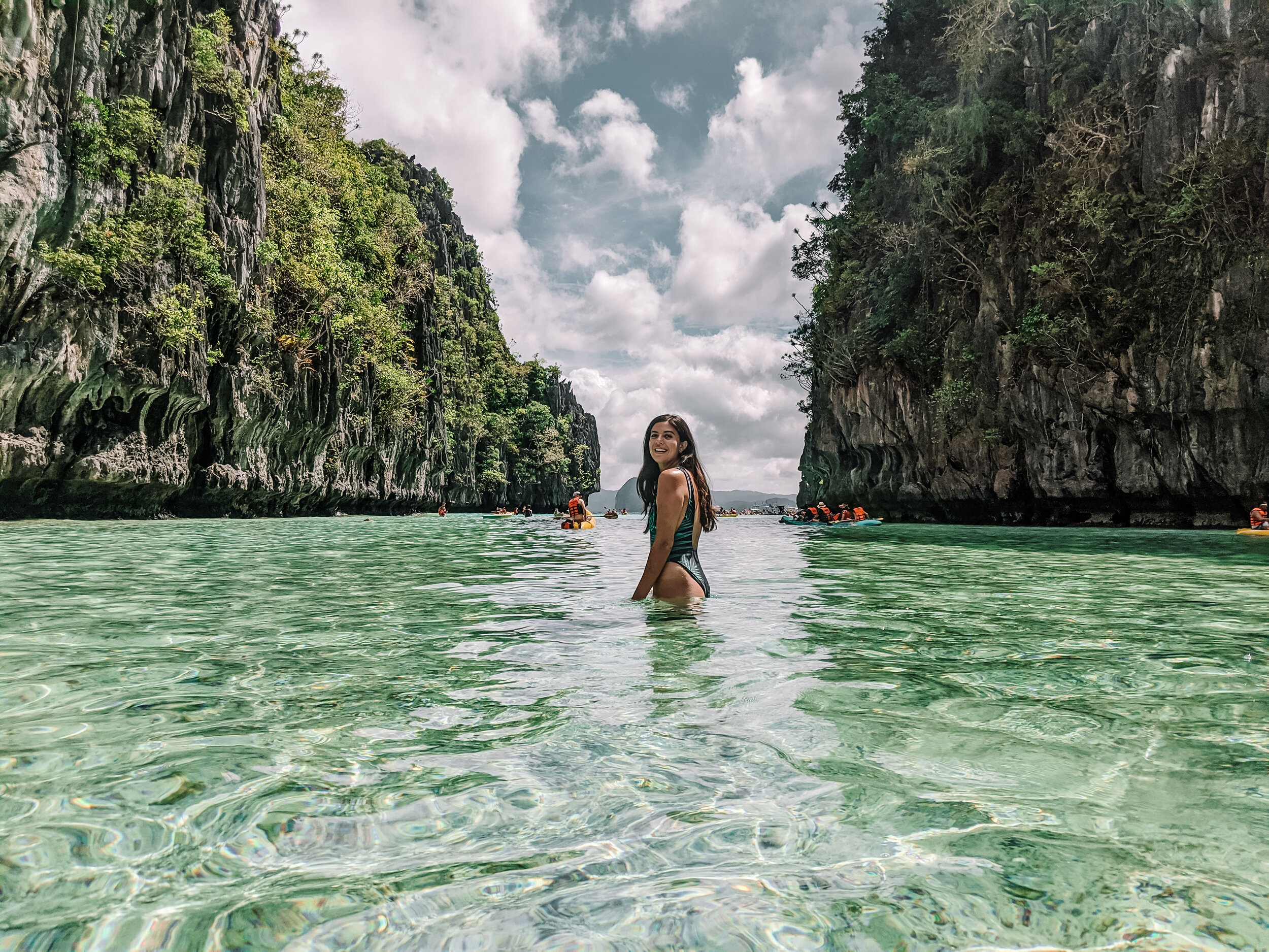 Rachel Off Duty: Woman in El Nido Lagoons, Philippines