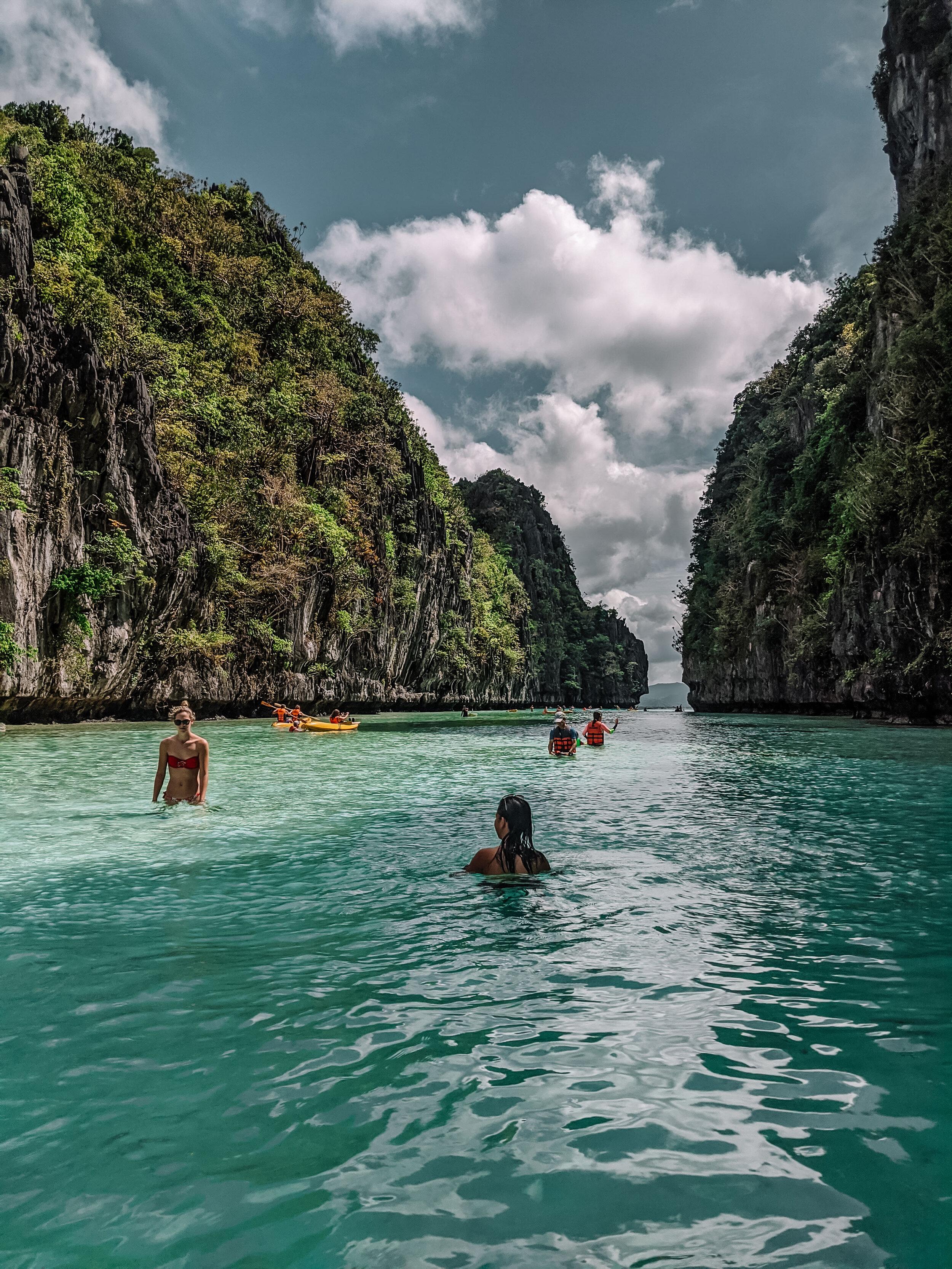 Rachel Off Duty: People Kayaking in El Nido Lagoons, Philippines