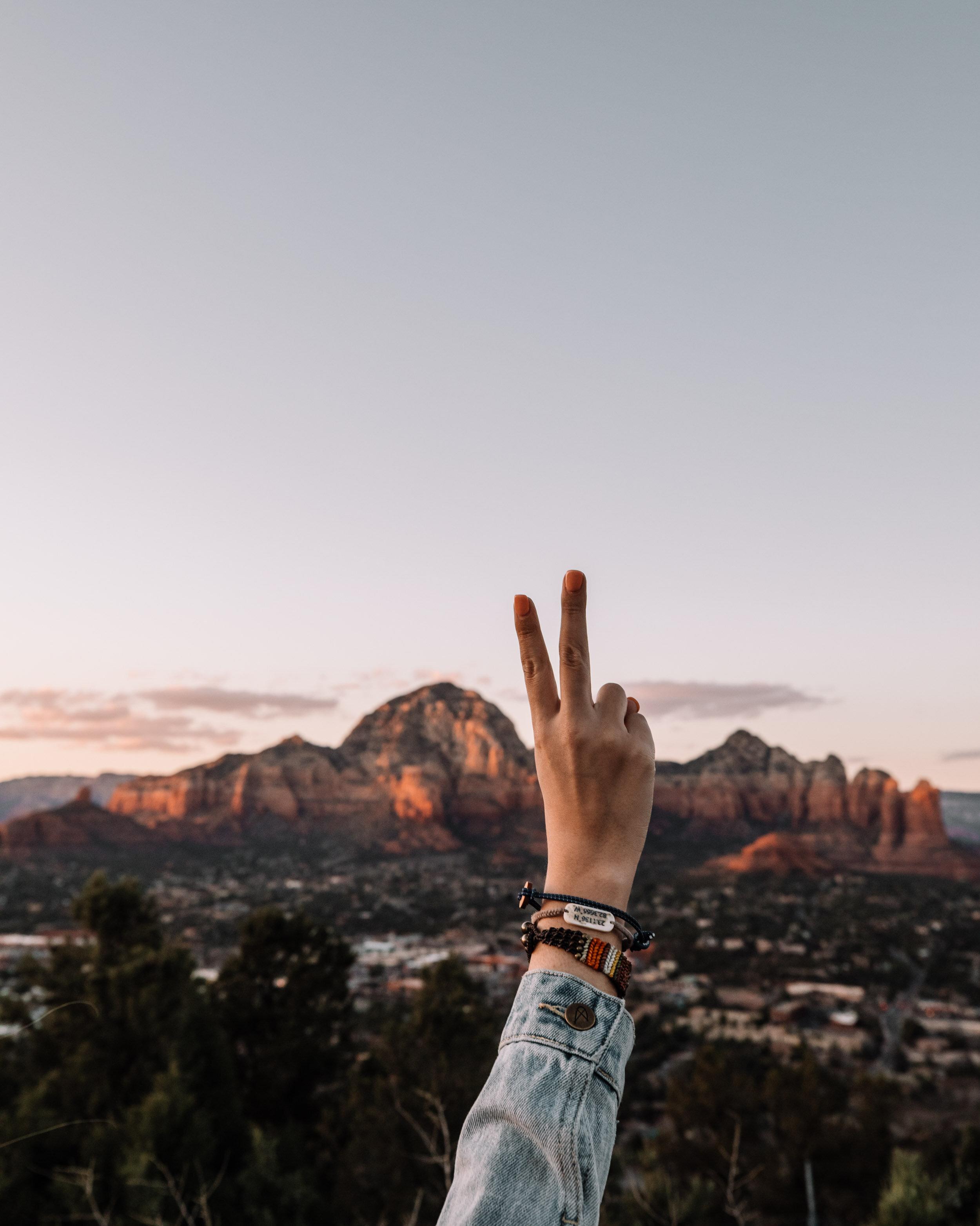 Rachel Off Duty: Peace Sign in Sedona, Arizona