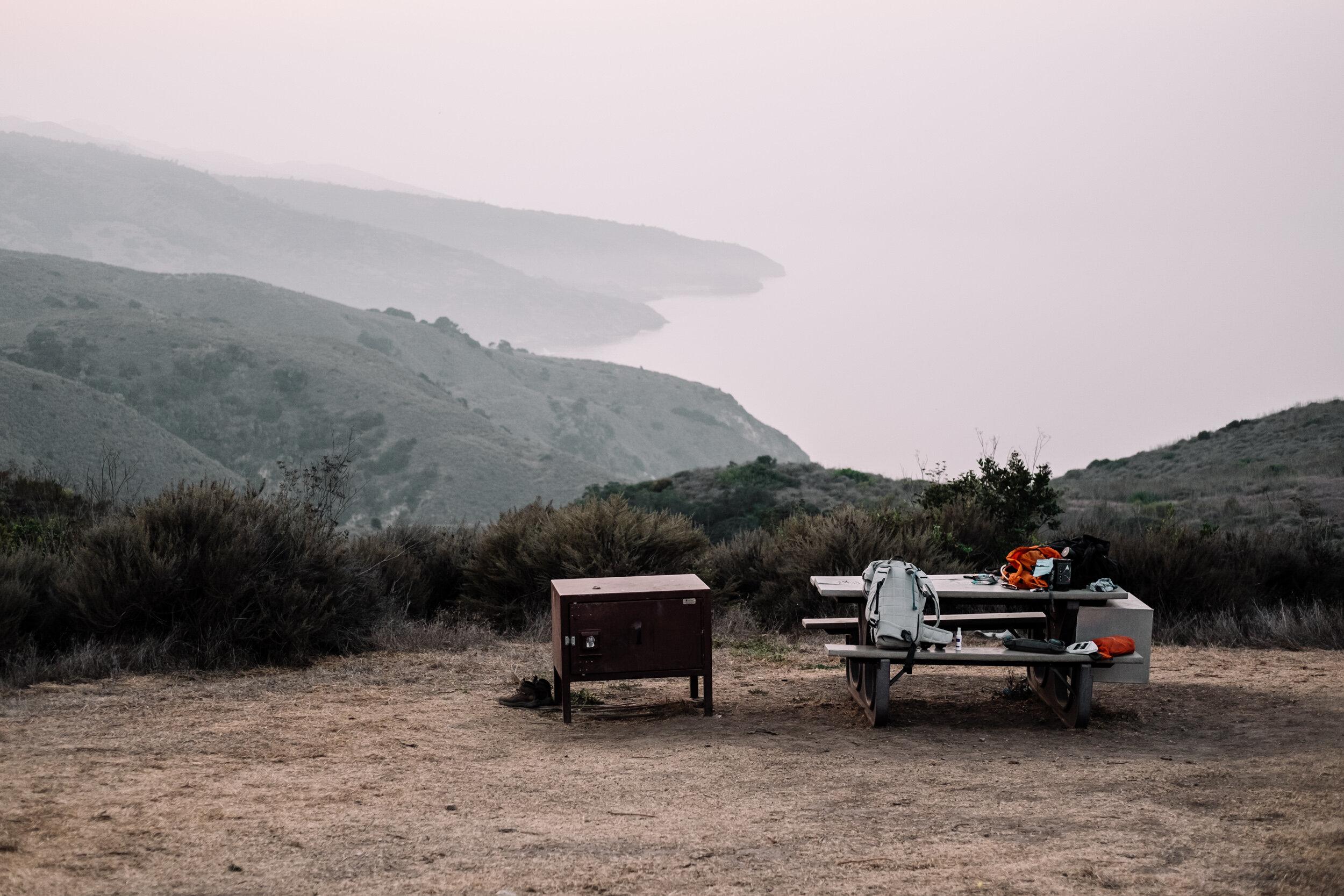 Rachel Off Duty: Campsite and Picnic Table at Santa Cruz Island, Channel Islands