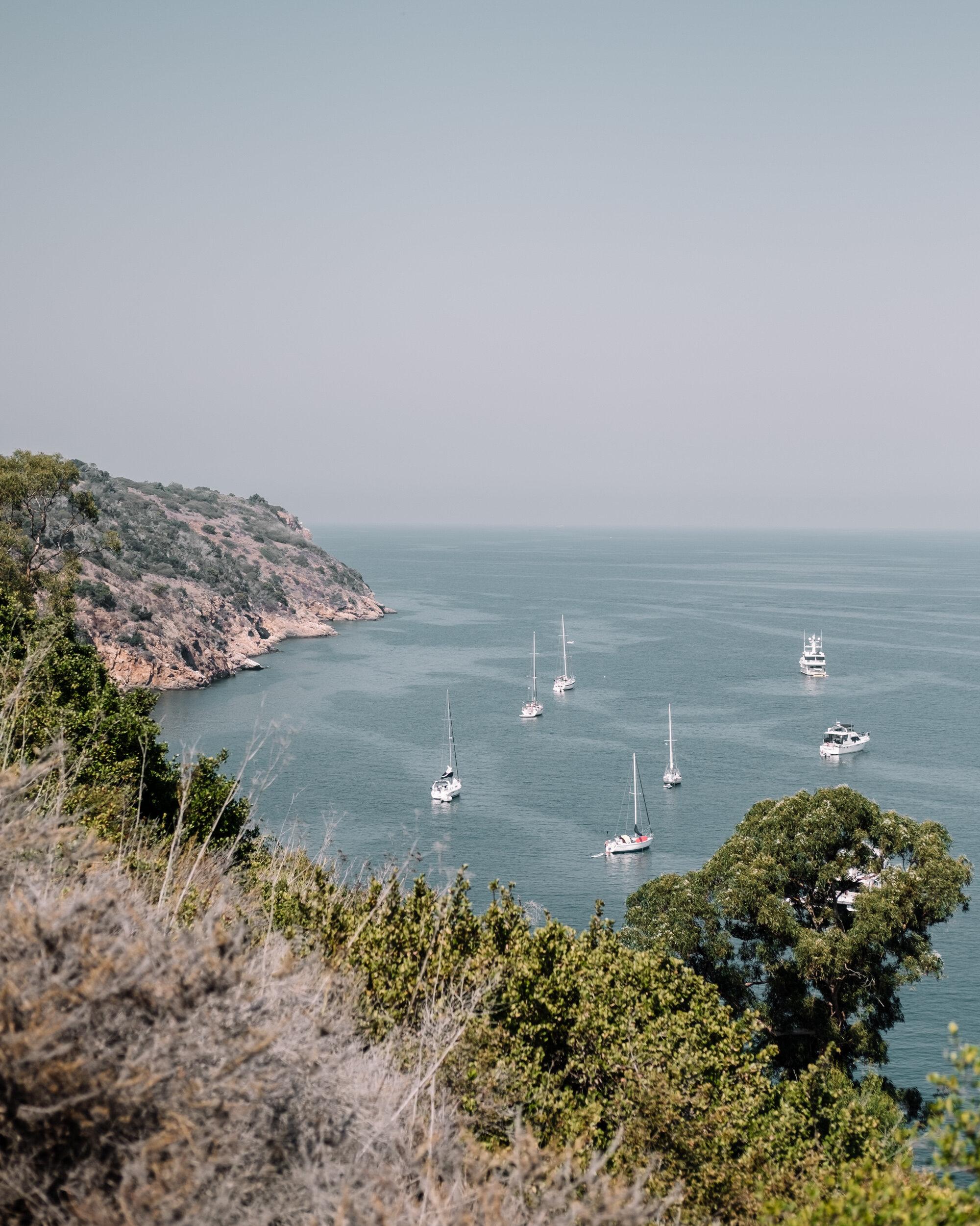 Rachel Off Duty: Sailboats Docked at Santa Cruz Island, Channel Islands