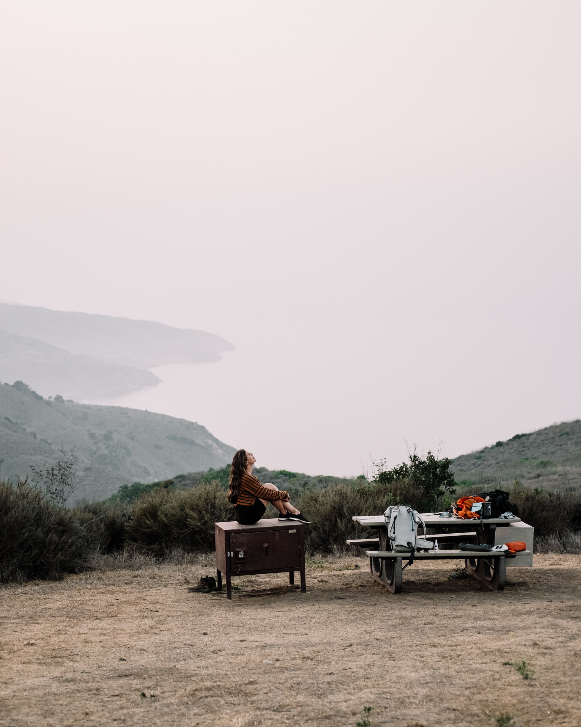 Rachel Off Duty: Girl at Campsite in Channel Islands National Park