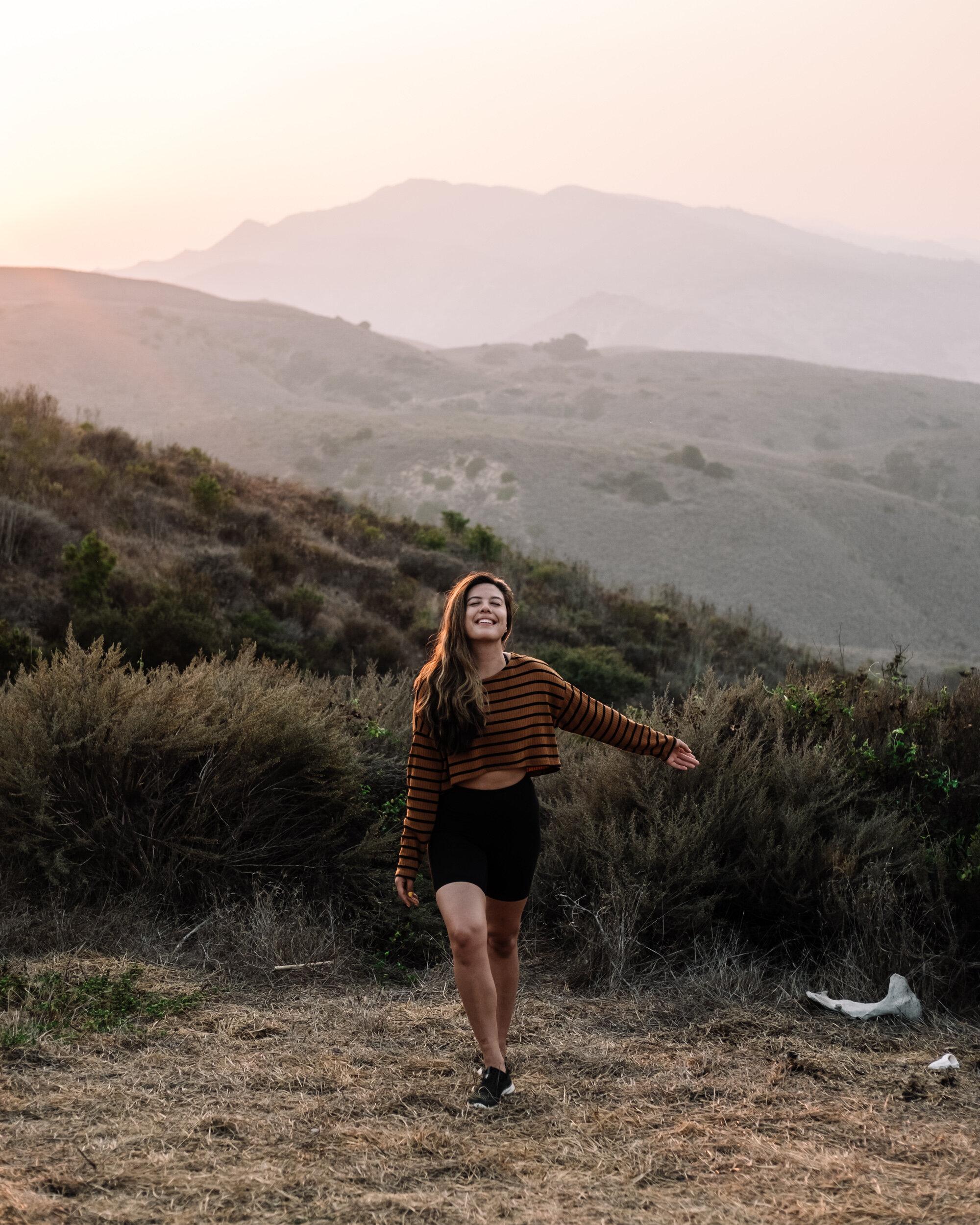 Rachel Off Duty: Woman admiring Sunset at Channel Islands National Park