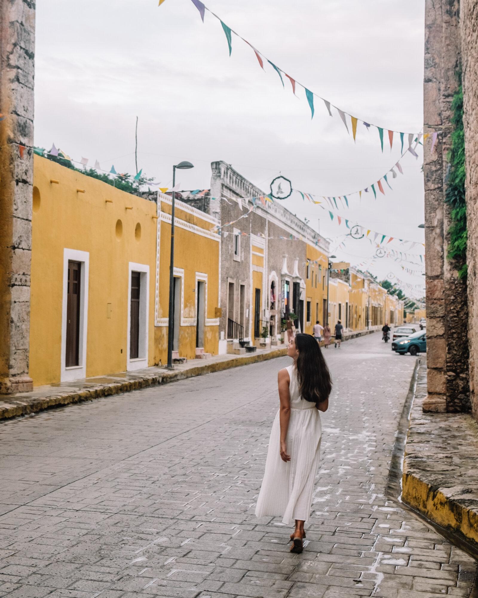 Rachel Off Duty: A Woman Walking in Izamal, Mexico