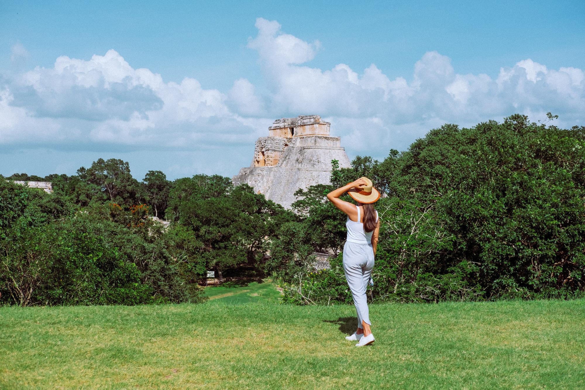 Rachel Off Duty: A Woman Admiring the Pyramids in Uxmal, Mexico