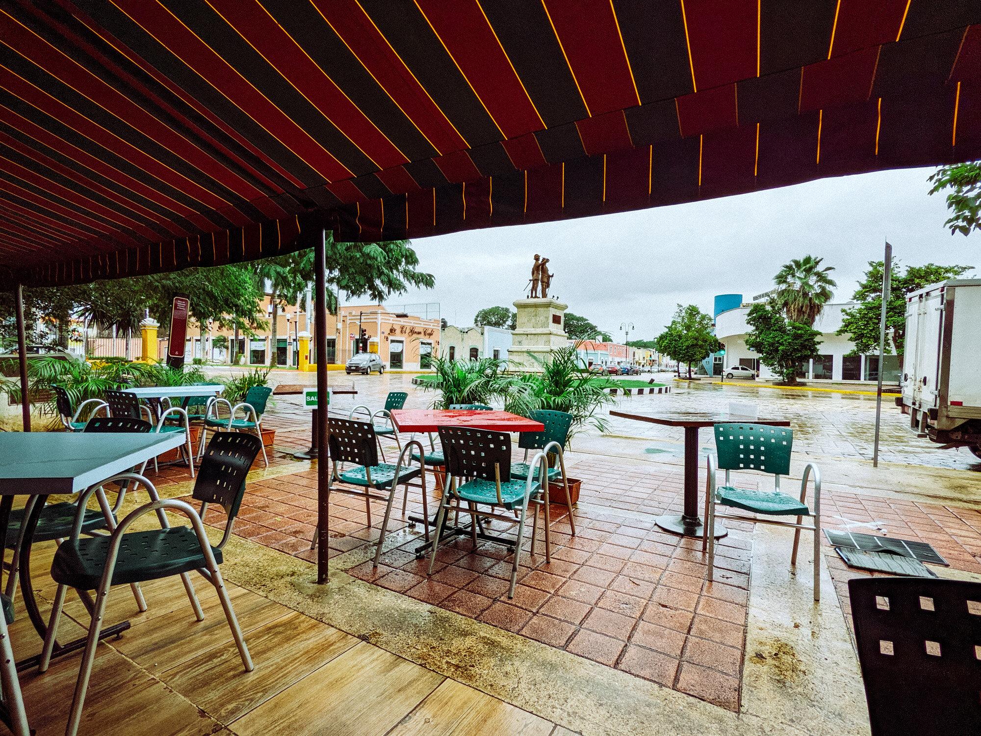 Rachel Off Duty: View of Paseo de Montejo from a Cafe in Merida