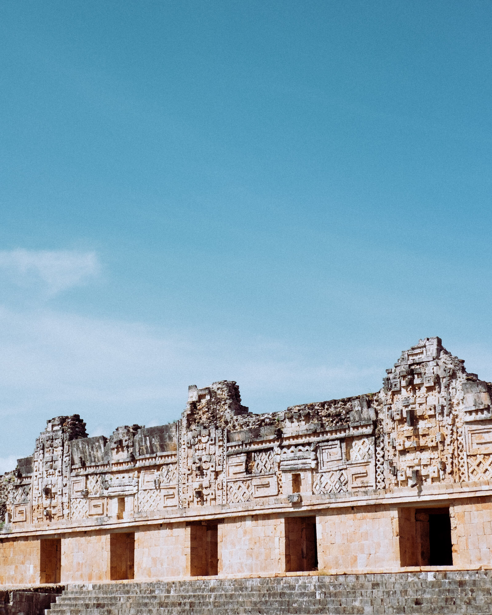 Rachel Off Duty: The Intricate Details of Uxmal's Ruins