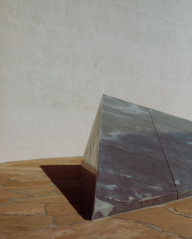 Rachel Off Duty: The Noguchi Garden Sculptures in Costa Mesa Casting a Midday Shadow